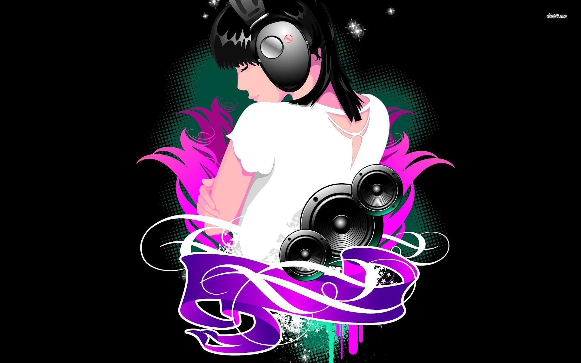 Res: 1920x1200, ... Girl DJ wallpaper  ...