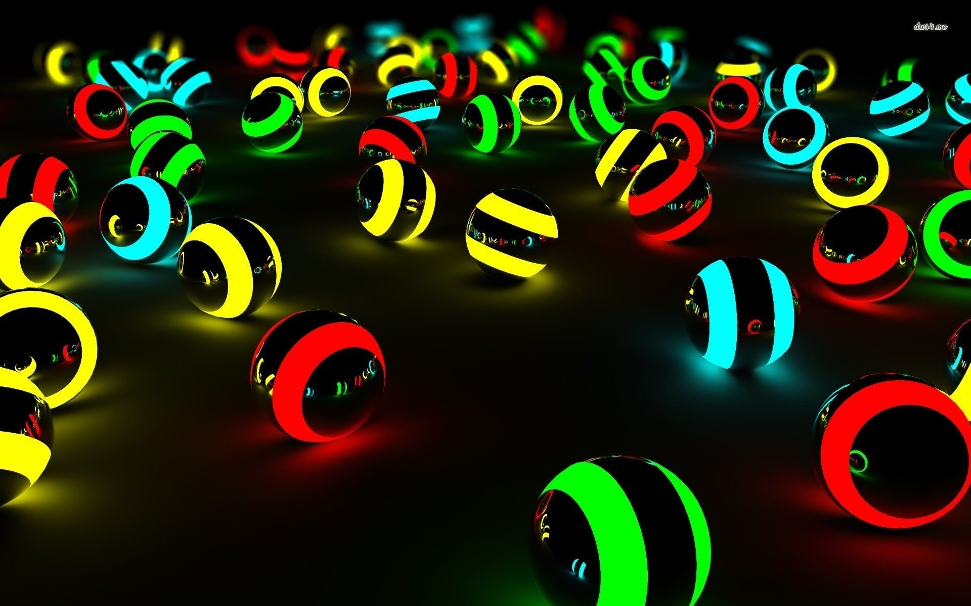 Res: 1920x1200, Cool 3D Neon Wallpapers