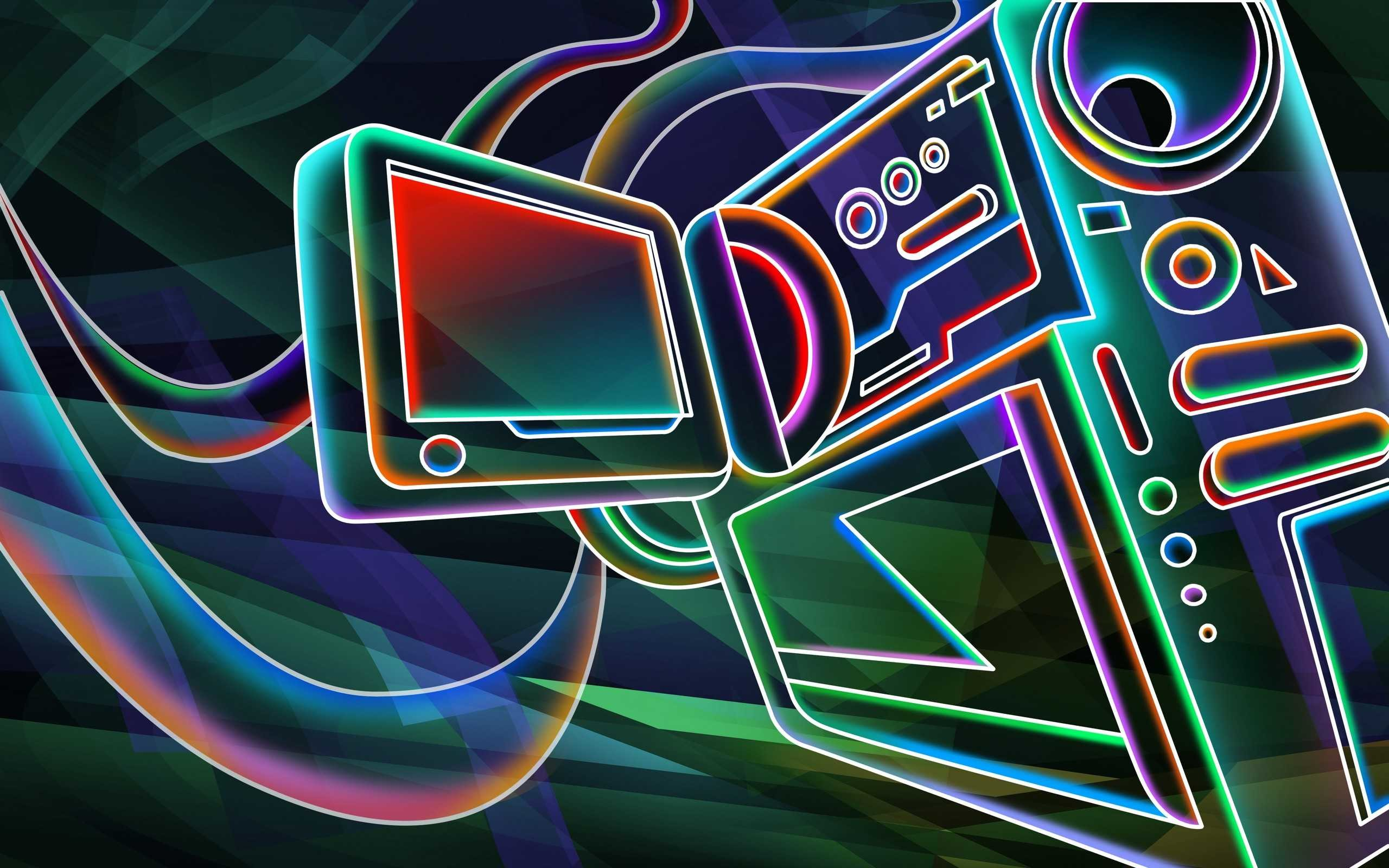 Res: 2560x1600, Cool Neon Full Hd Pics Of Pc Wallpaperneon Colorful