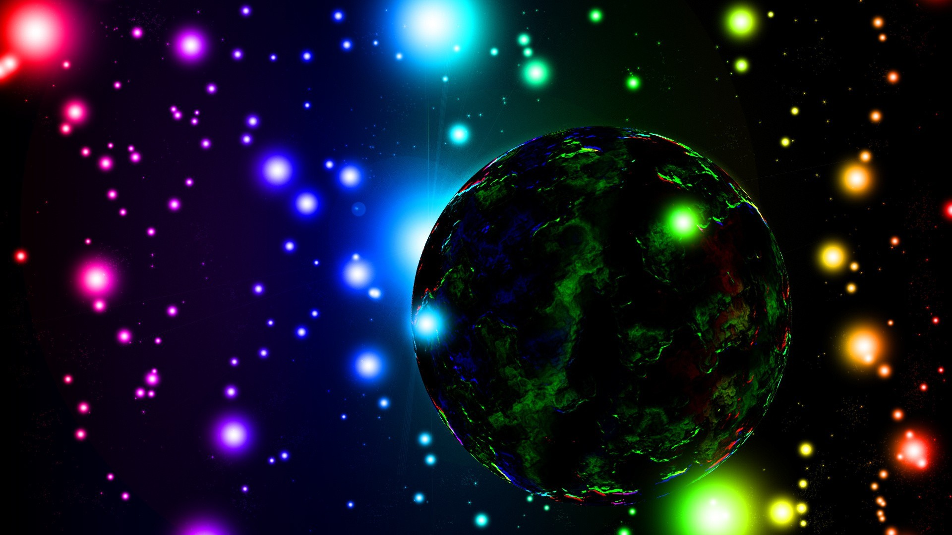 Res: 1920x1080, best desktop wallpapers to download neon space planet hd
