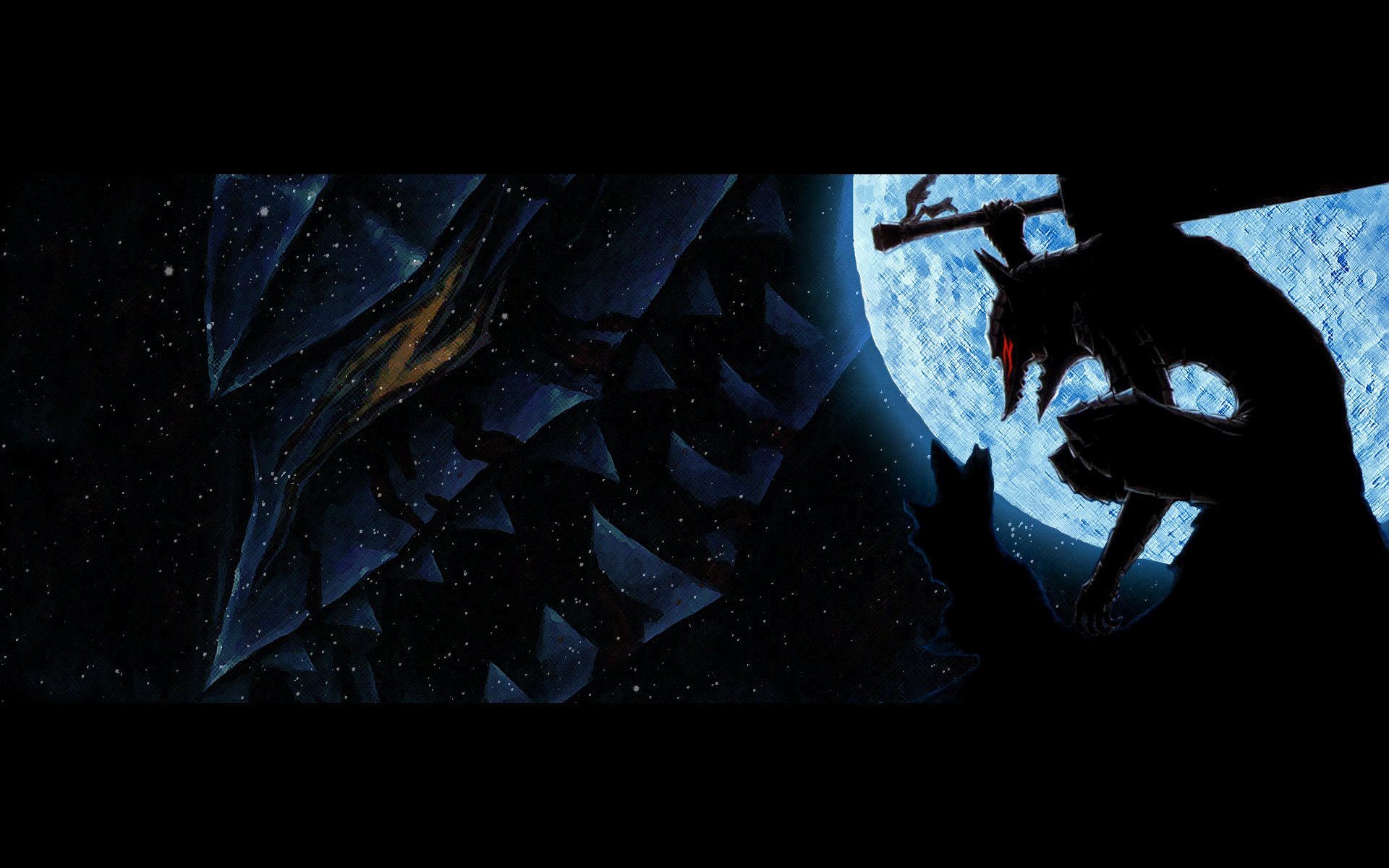 Res: 1920x1200, Berserk Armor in the Moonlight by Denkigrve ...
