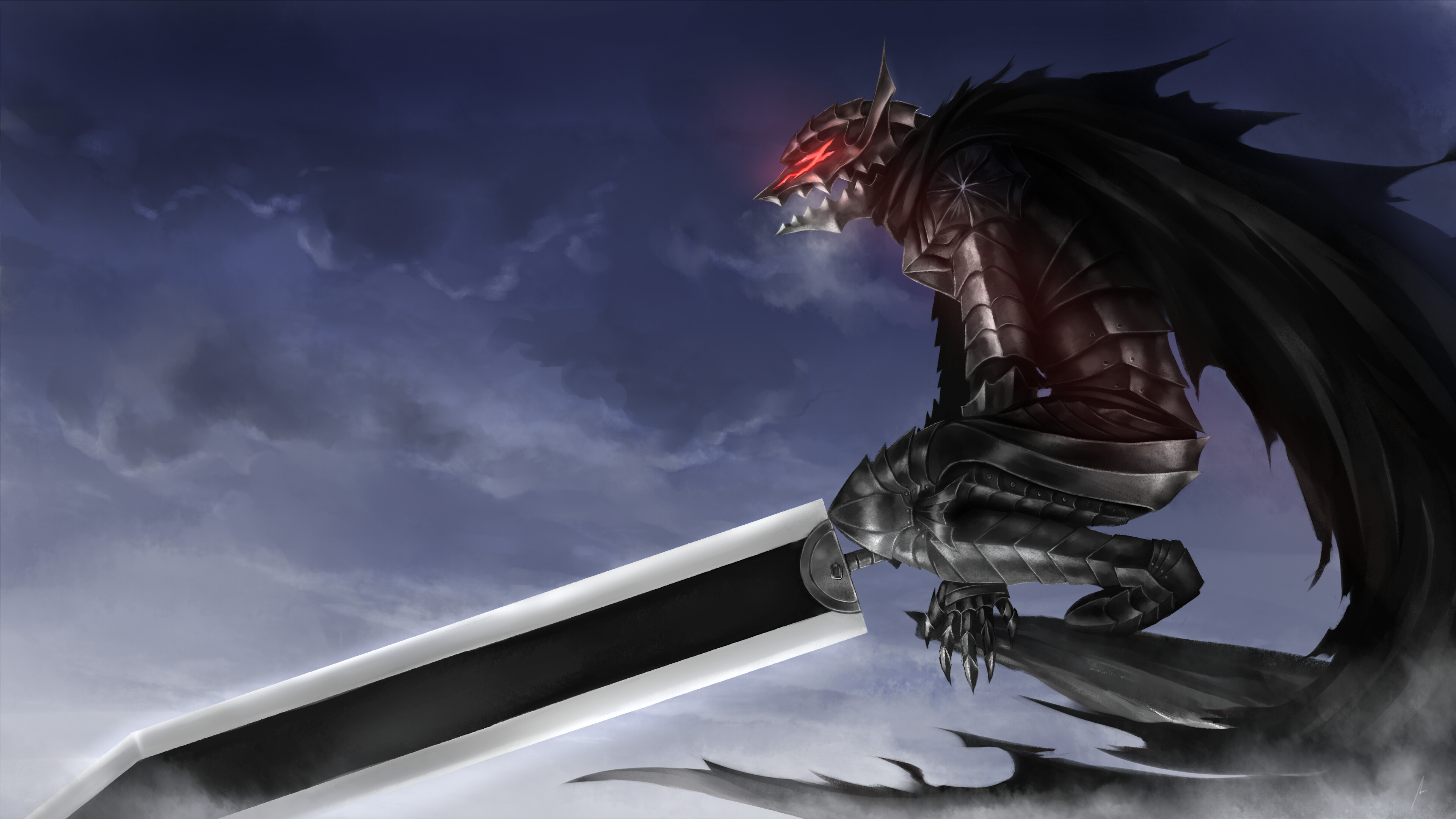 Res: 3840x2160, Anime - Berserk Guts (Berserk) Wallpaper