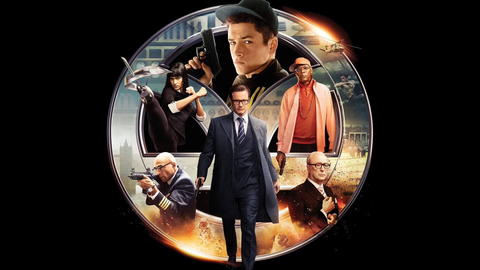 Res: 1920x1080, Filme - Kingsman: The Secret Service Sofia Boutella Mark Strong Michael  Caine Colin Firth Taron