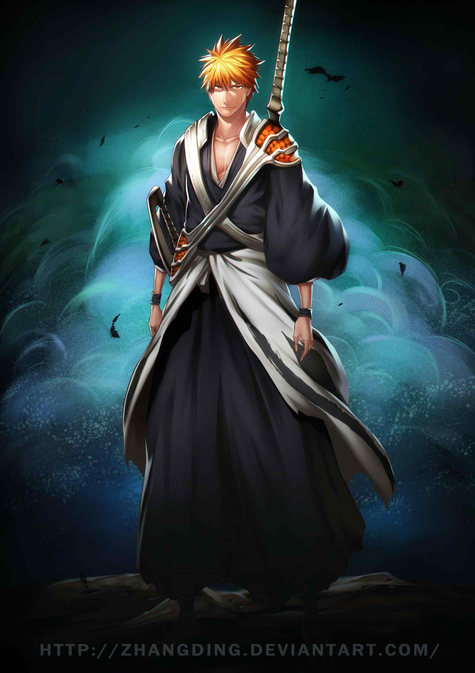 Res: 1899x2690, chikararyoku on deviantart tensa ichigo kurosaki new bankai sword zangetsu  by chikararyoku on deviantart hd wallpaper