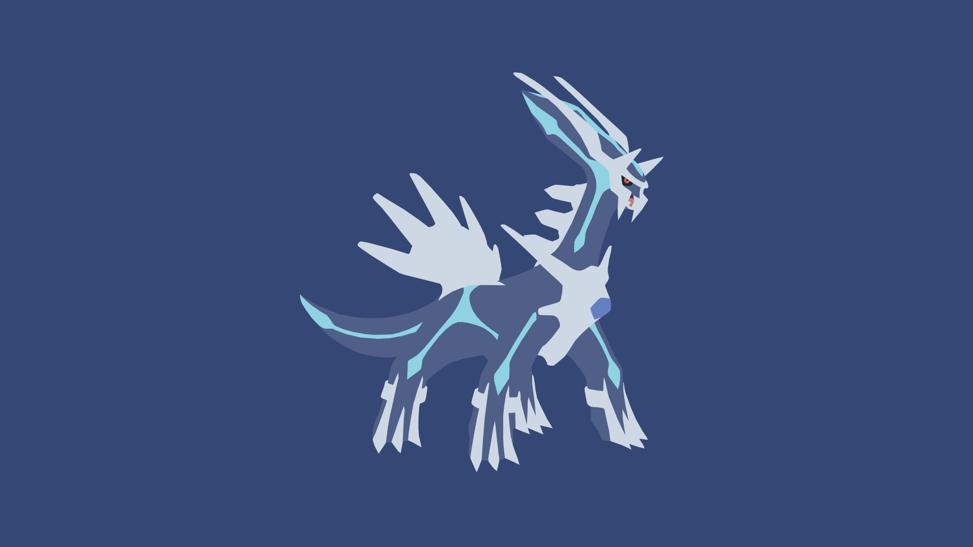Res: 1920x1080, Minimalistic Wallpaper: Dialga (#483) by MardGeerT