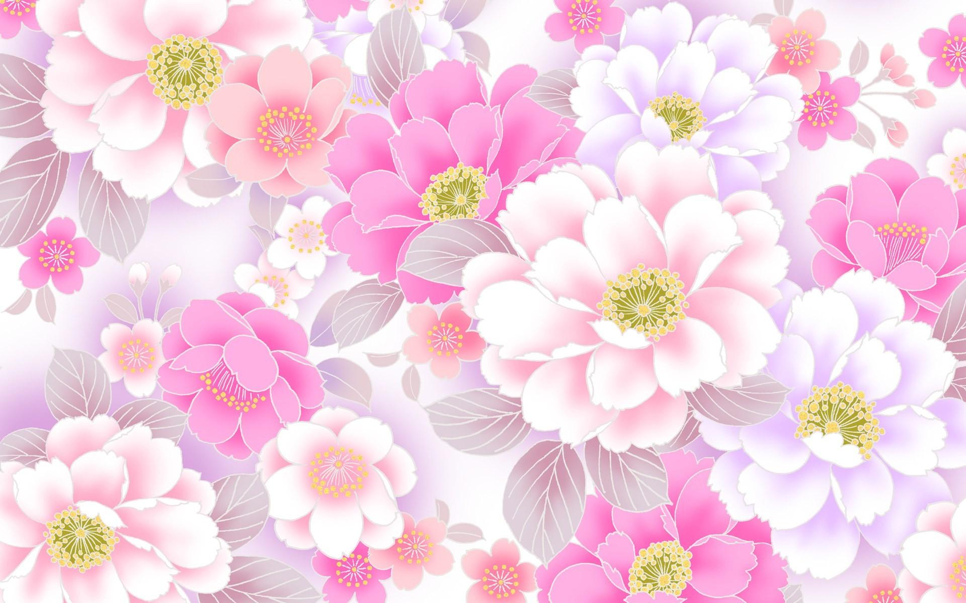 Res: 1920x1200, Artistic - Flower Artistic Pink Flower White Flower Wallpaper