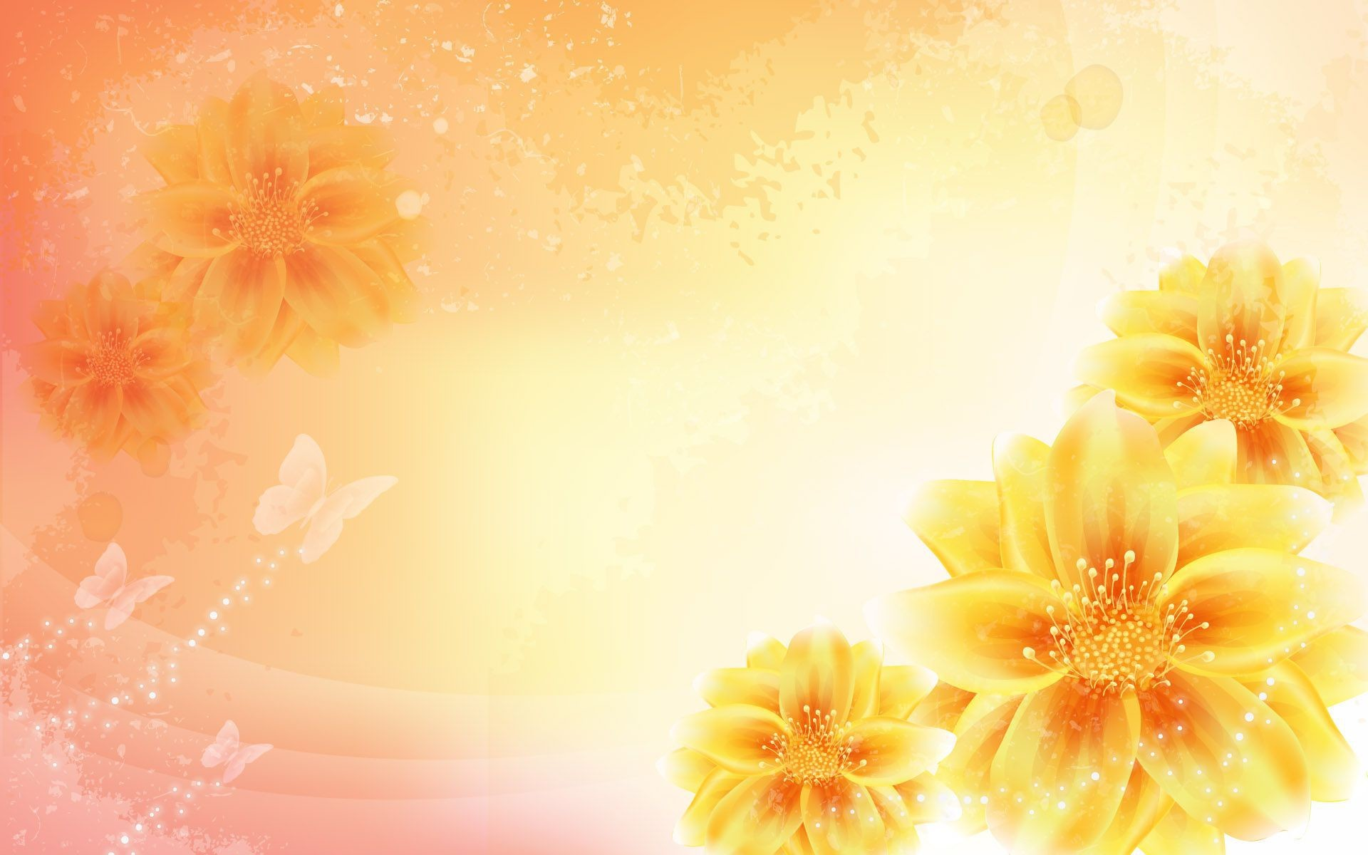 Res: 1920x1200, Yellow Flower Background