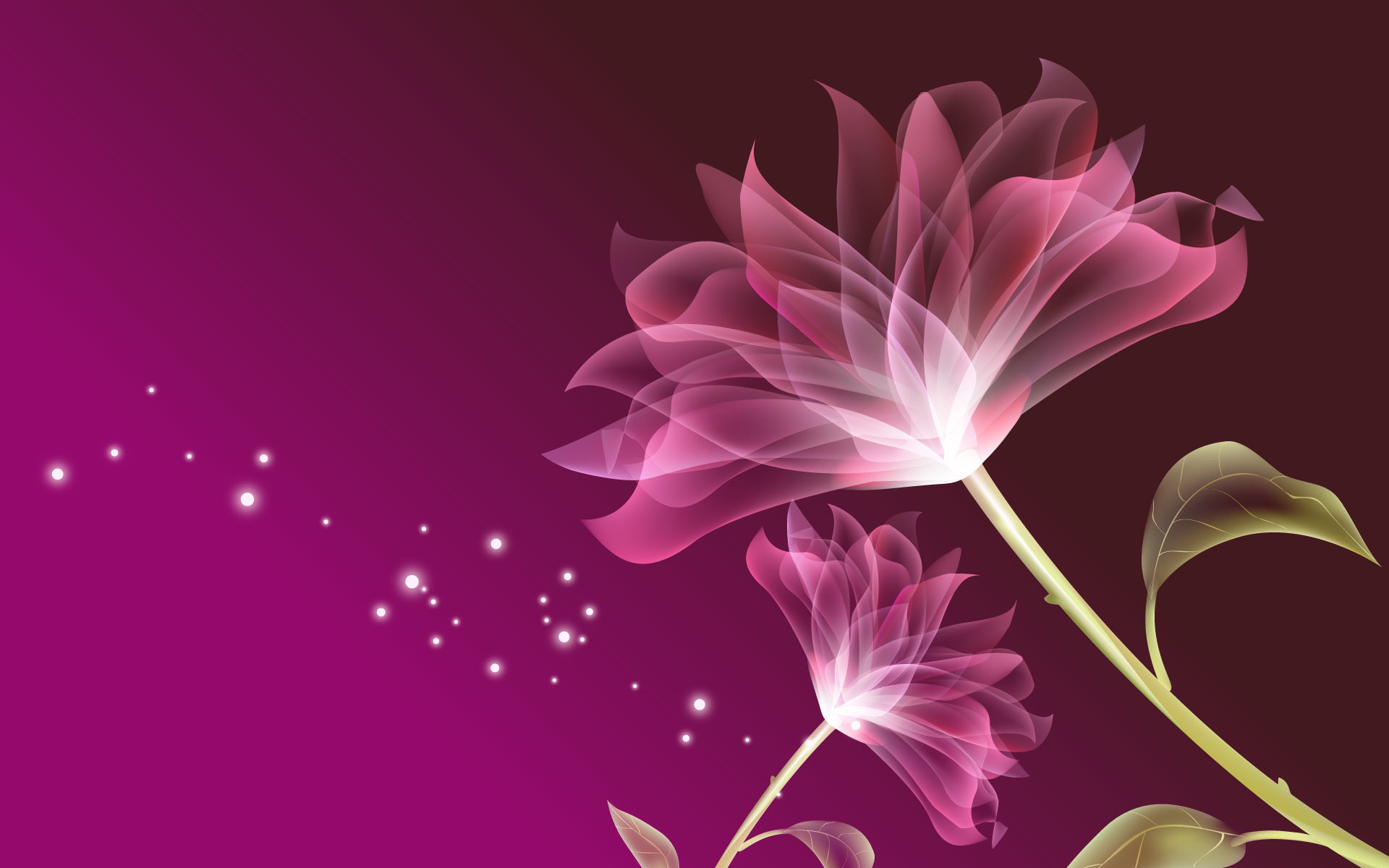 Res: 1920x1200,  3D Pink Flowers Background Wallpaper  - Cool PC  Wallpapers