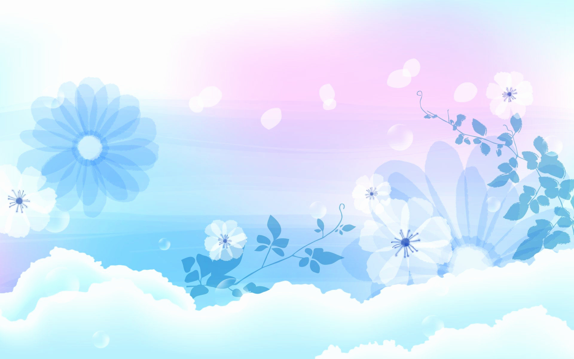 Res: 1920x1200, Light Blue Wallpaper Unique Flower Background Design Images