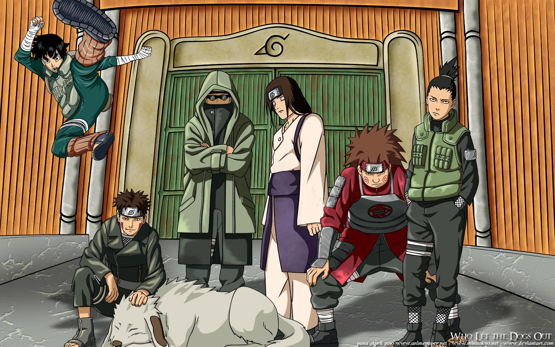 Res: 1920x1200, Anime - Naruto Akamaru (Naruto) Chōji Akimichi Kiba Inuzuka Neji Hyūga Rock  Lee Shino