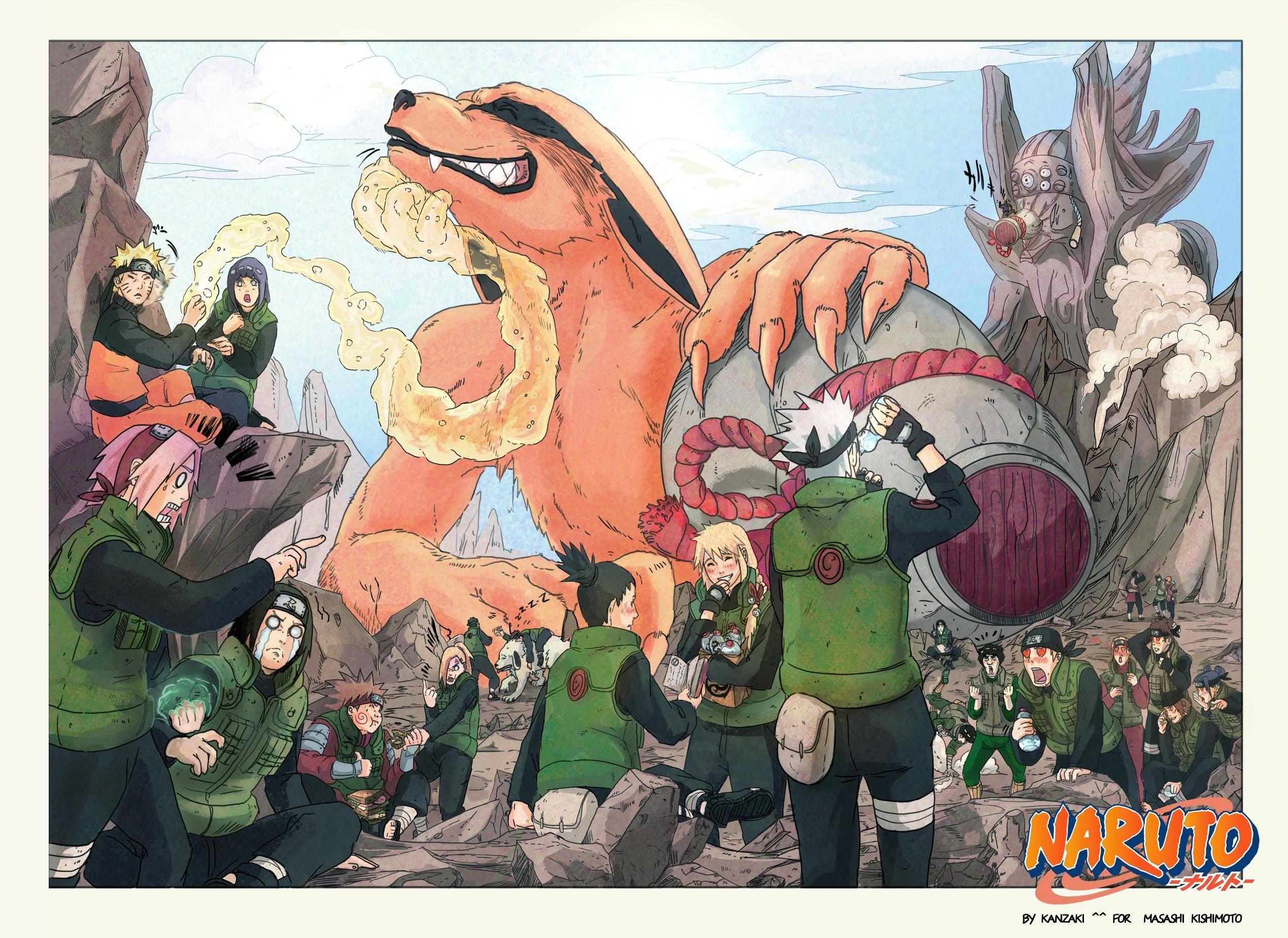 Res: 2538x1849, Anime  Uzumaki Naruto Hyuuga Hinata Haruno Sakura Hyuuga Neji  Yamanaka Ino Inuzuka Kiba Kyuubi Nara