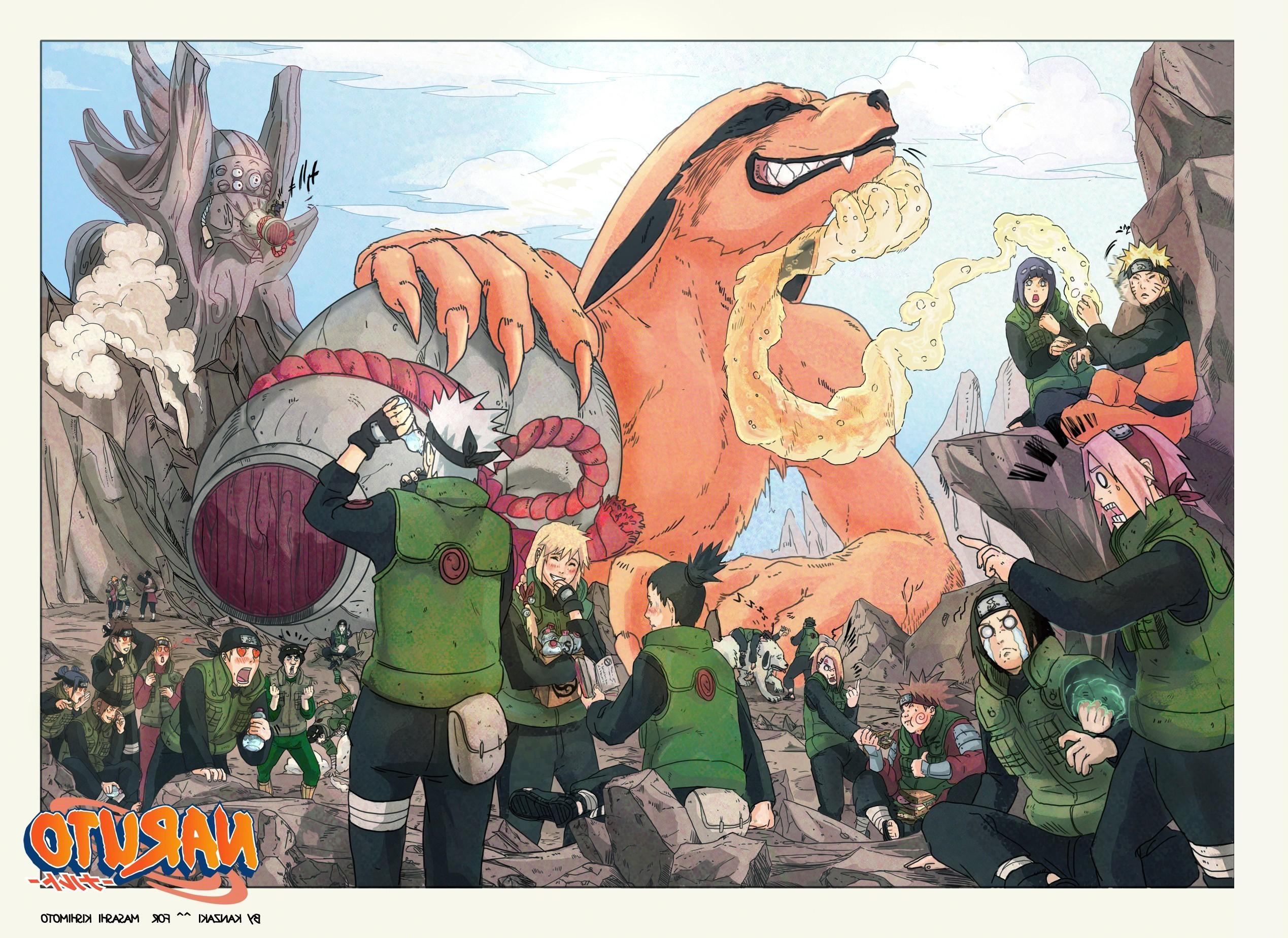 Res: 2538x1849, Uzumaki Naruto, Hyuuga Hinata, Haruno Sakura, Hyuuga Neji, Yamanaka Ino, Inuzuka  Kiba, Kyuubi, Nara Shikamaru, Hatake Kakashi, Anime, Crossover Wallpapers  ...