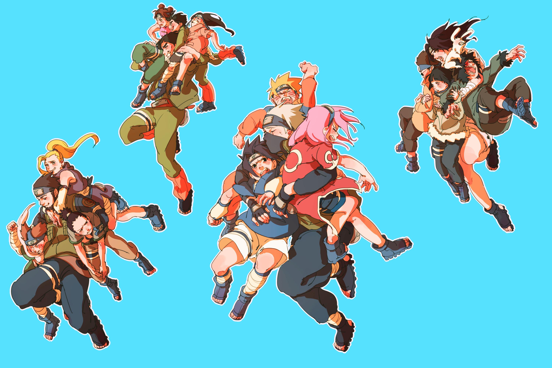 Res: 3000x2000, Anime - Naruto Kakashi Hatake Sasuke Uchiha Sakura Haruno Naruto Uzumaki  Might Guy Rock Lee Tenten