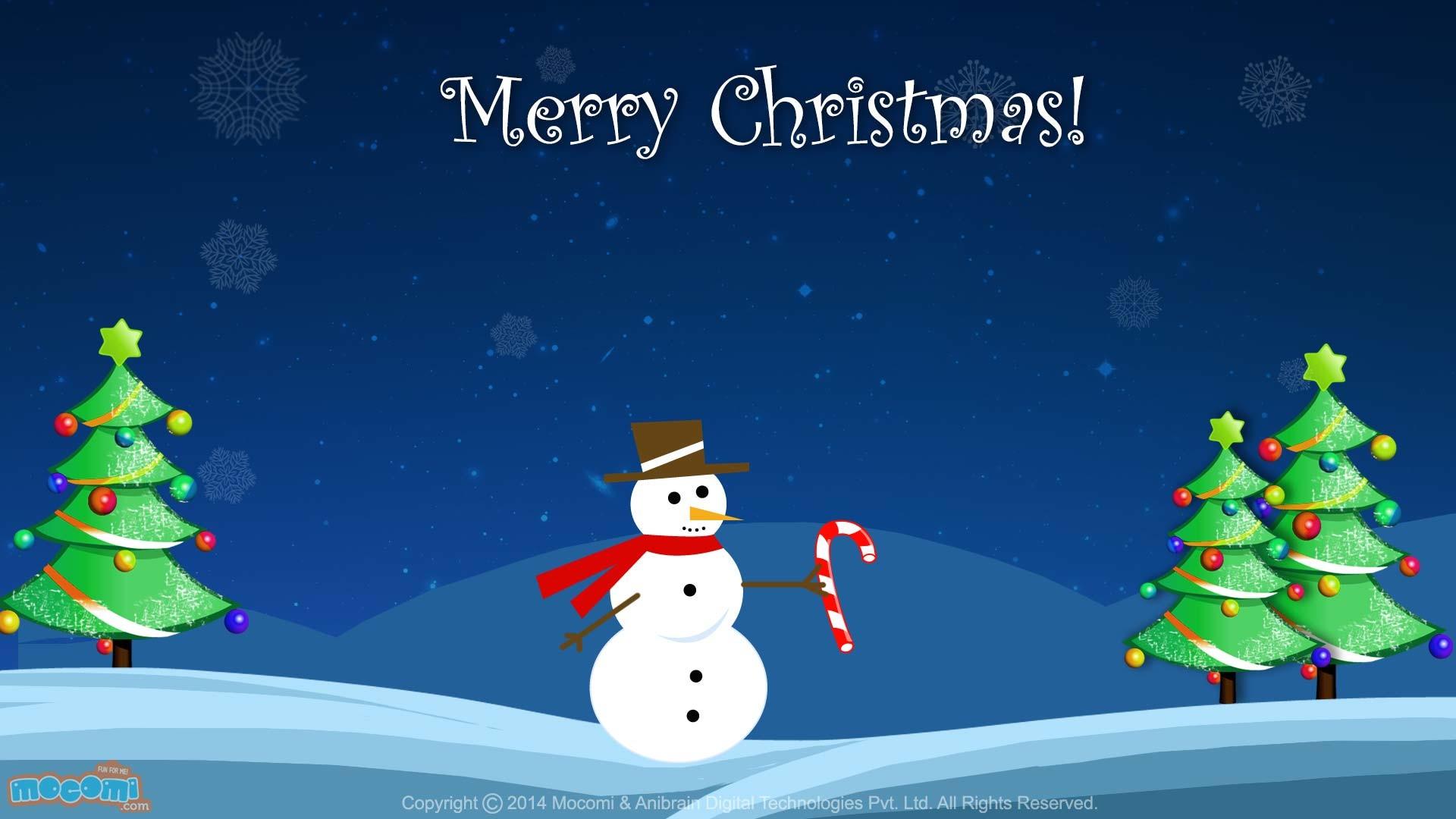 Res: 1920x1080, Christmas Snowman Wallpaper. Â«