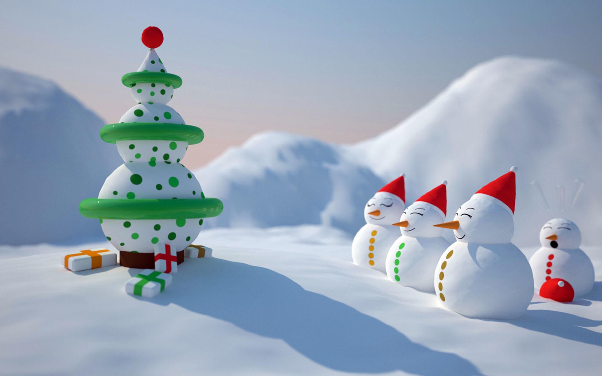 Res: 1920x1200, Christmas-snowman-wallpaper-HD
