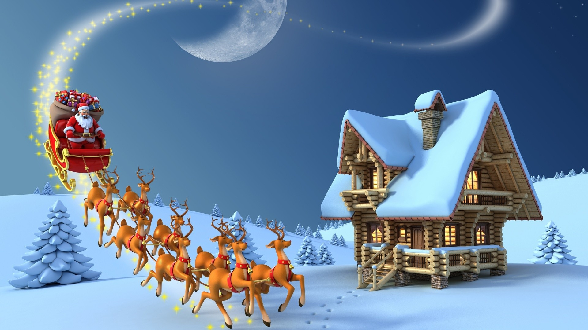 Res: 1920x1080, 1024x768; Christmas Wallpaper