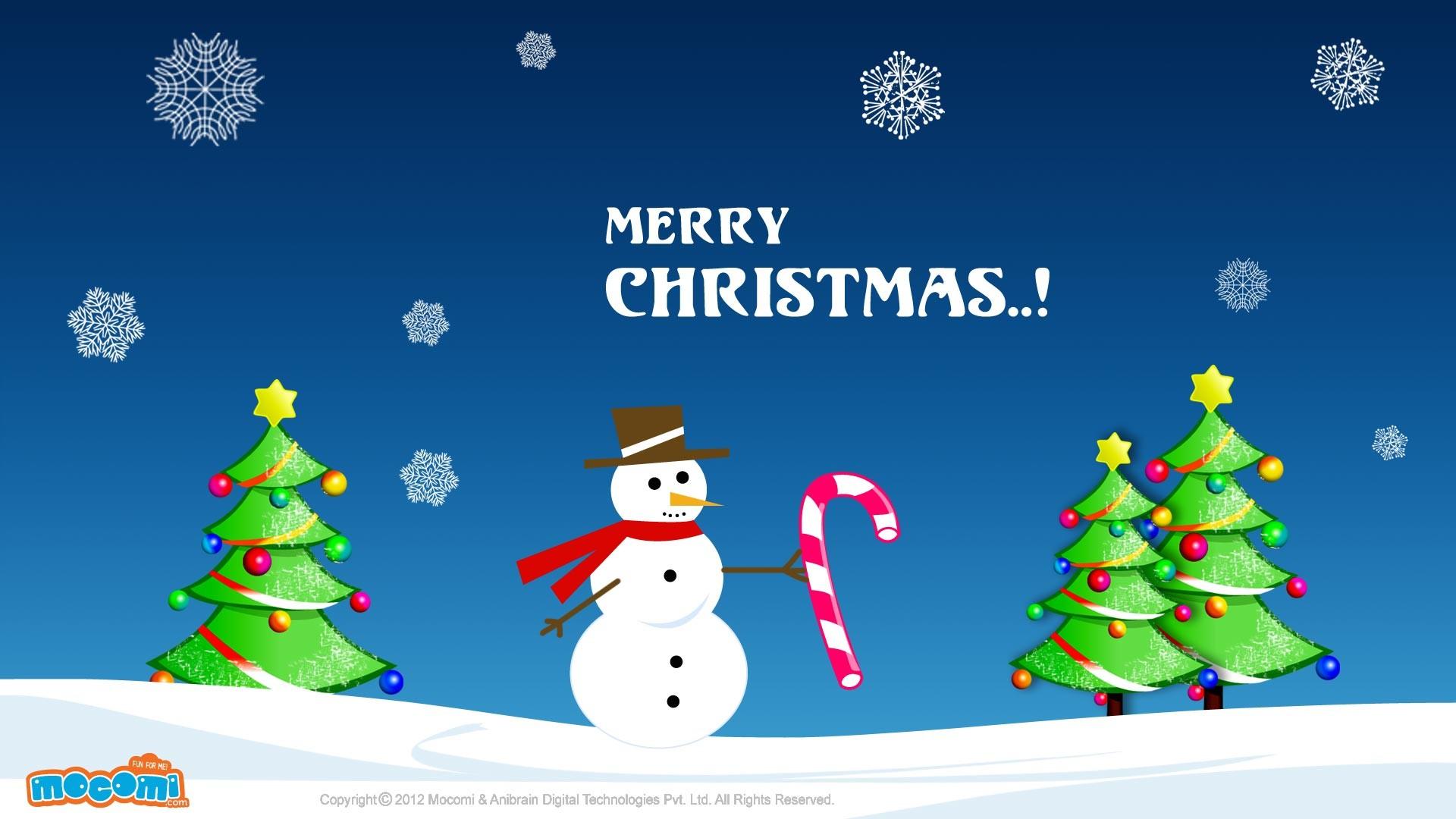 Res: 1920x1080, Merry Christmas Snowman. Â«