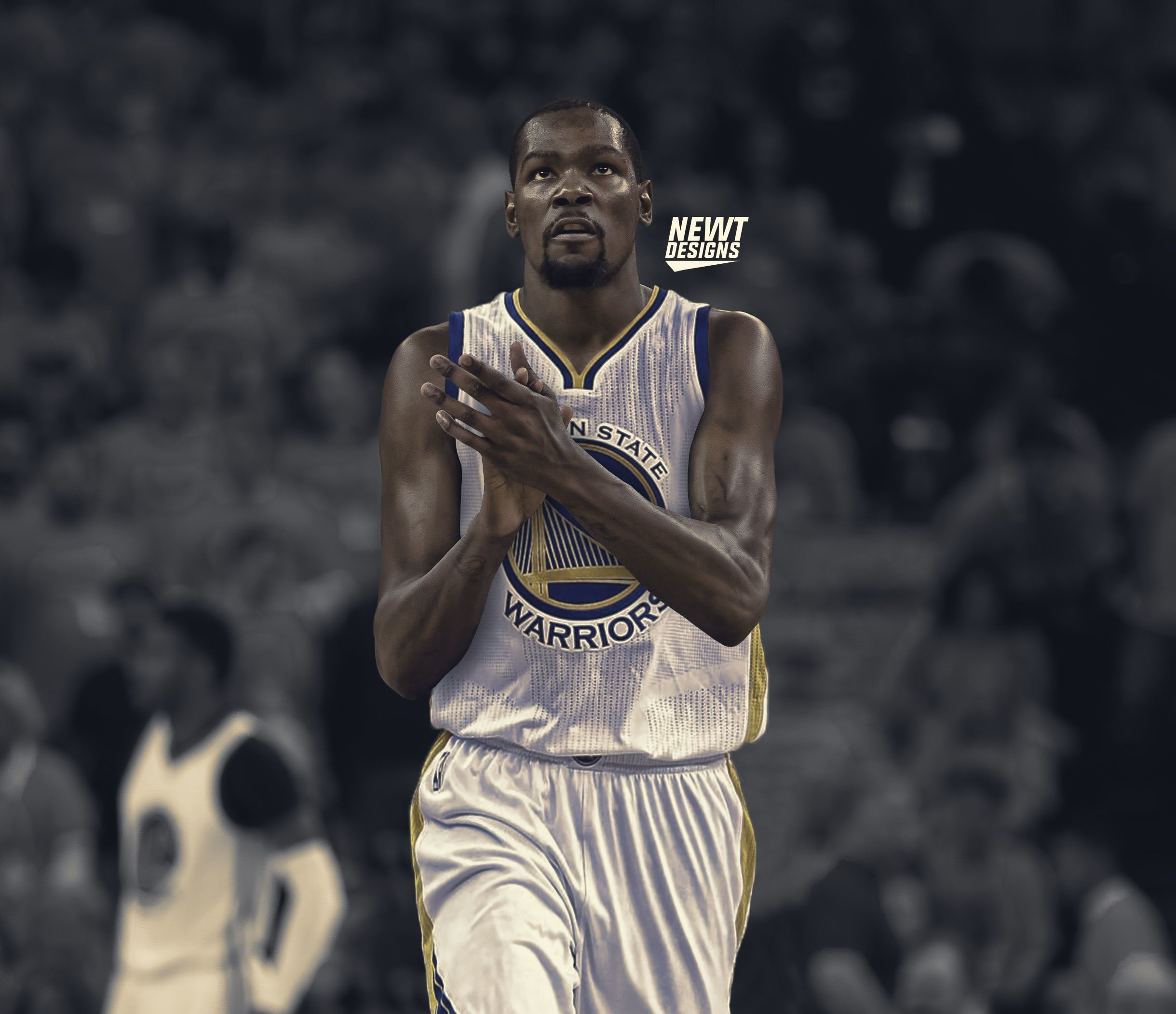 Res: 2439x2103, Kevin Durant Jersey Swap - Golden State Warriors by NewtDesigns on .