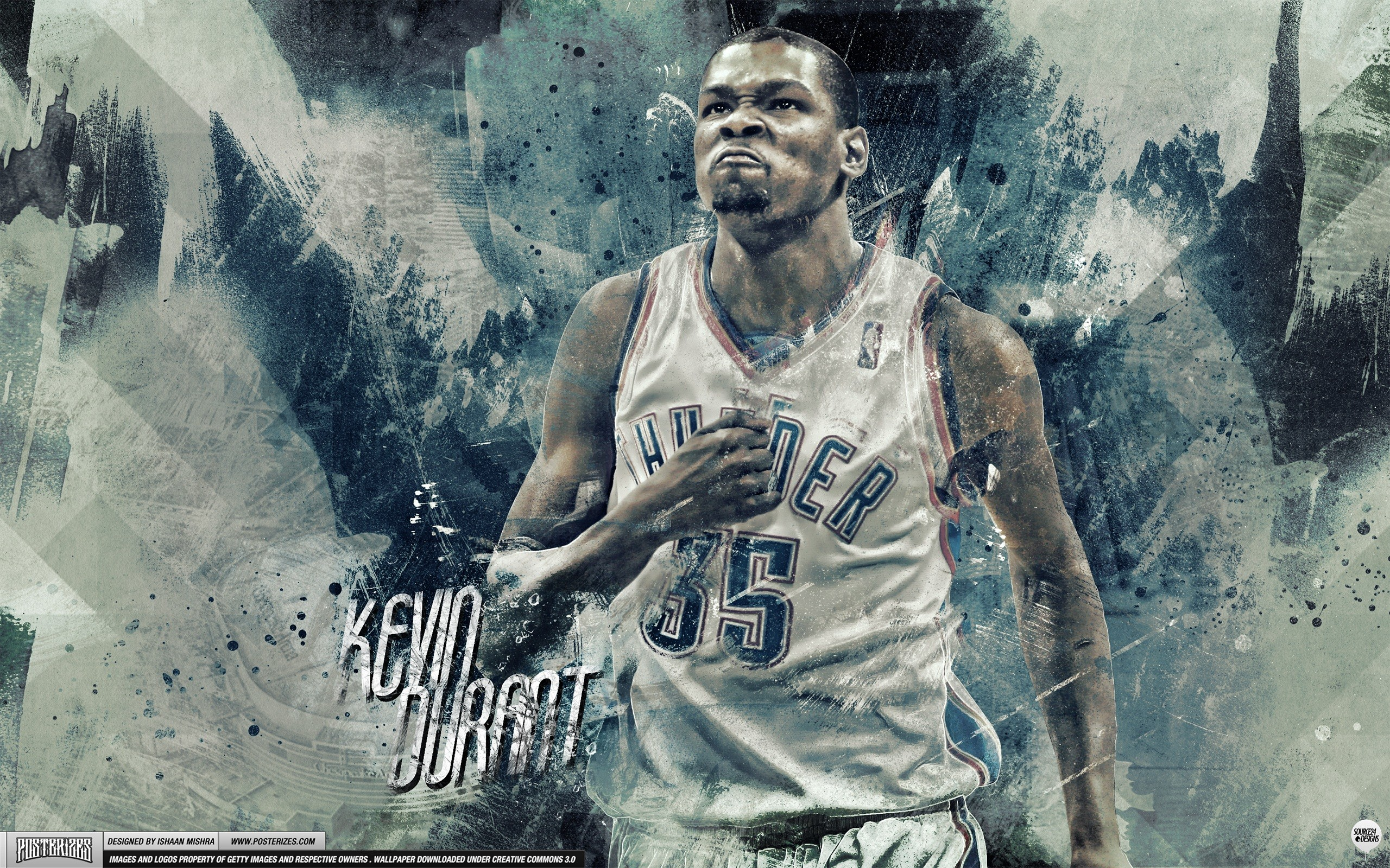 Res: 2560x1600, Kevin Durant – 'Beast Mode' (WALLPAPER)