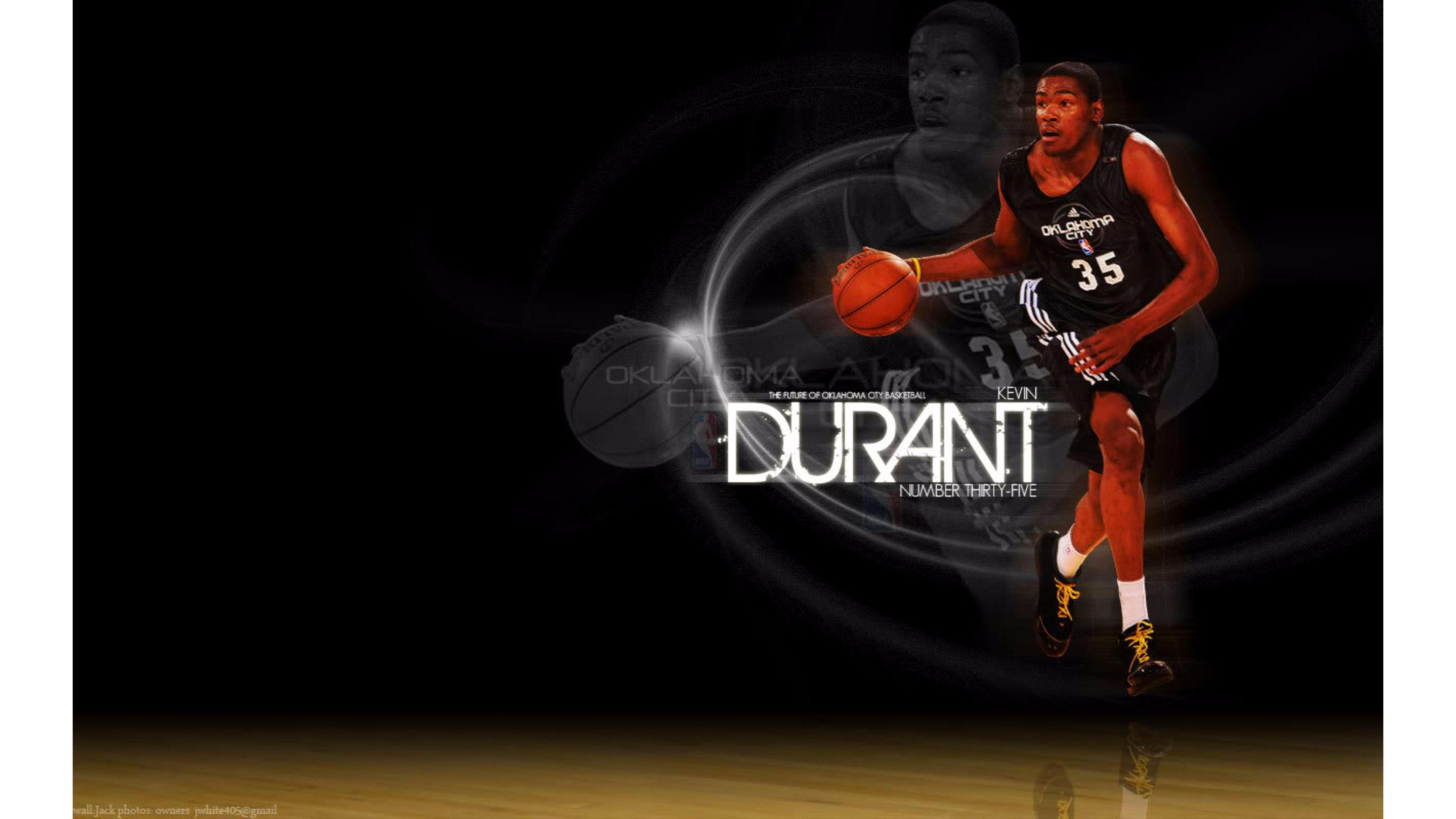 Res: 3840x2160, Black Background Kevin Durant 4K Wallpapers