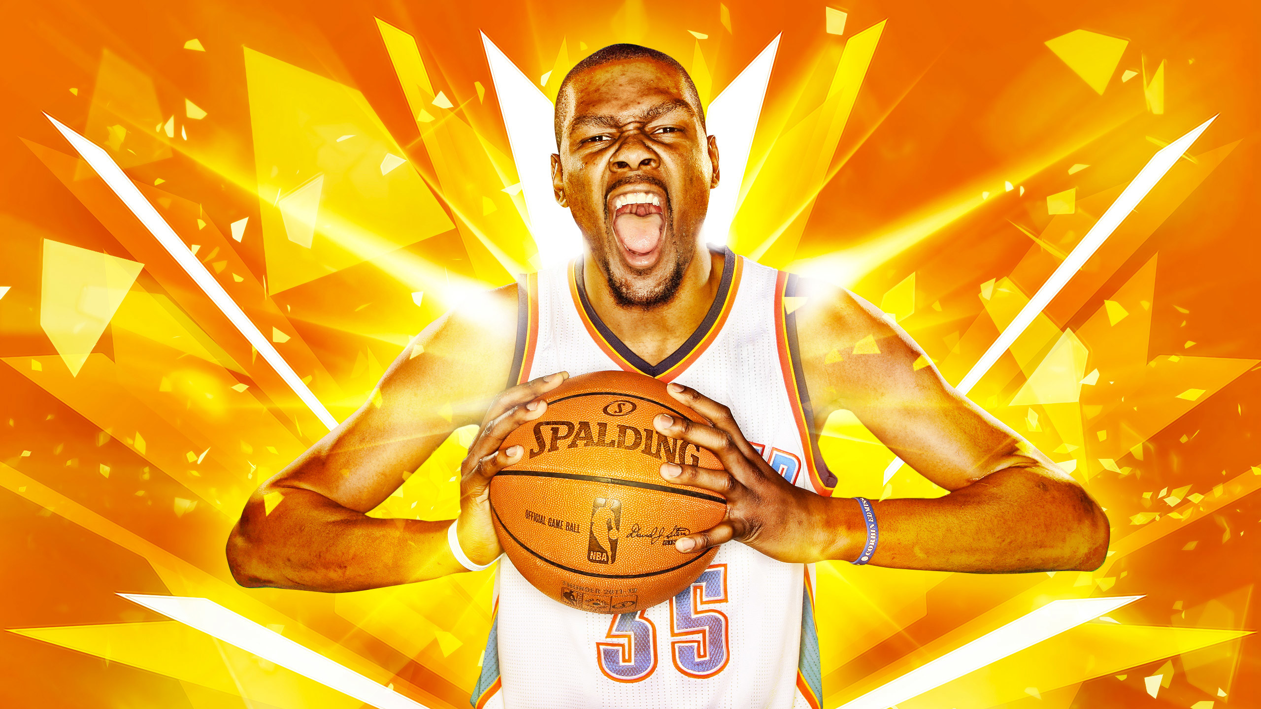 Res: 2560x1440, Kevin Durant OKC Thunder 2016 Wallpaper