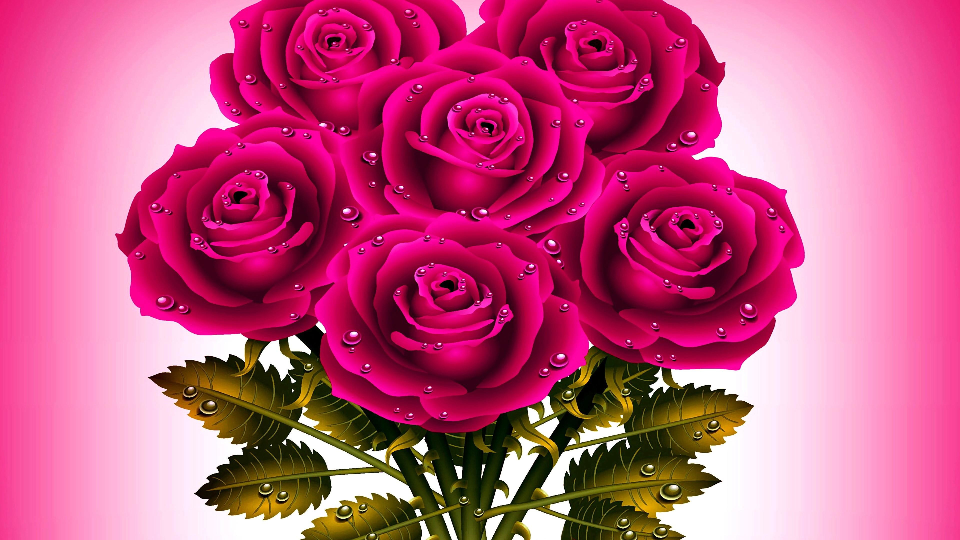 Res: 3840x2160, Pink Roses Wallpaper | Wallpaper Studio 10 | Tens of thousands HD and  UltraHD wallpapers for Android, Windows and Xbox
