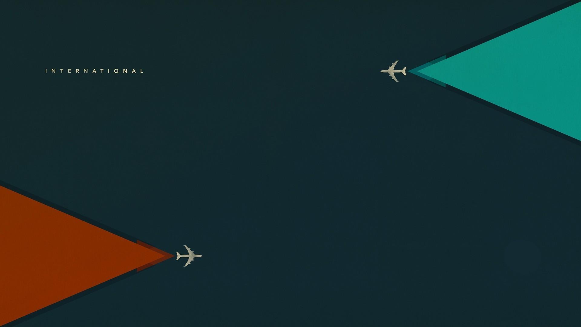 Res: 1920x1080, Airplane Minimalism