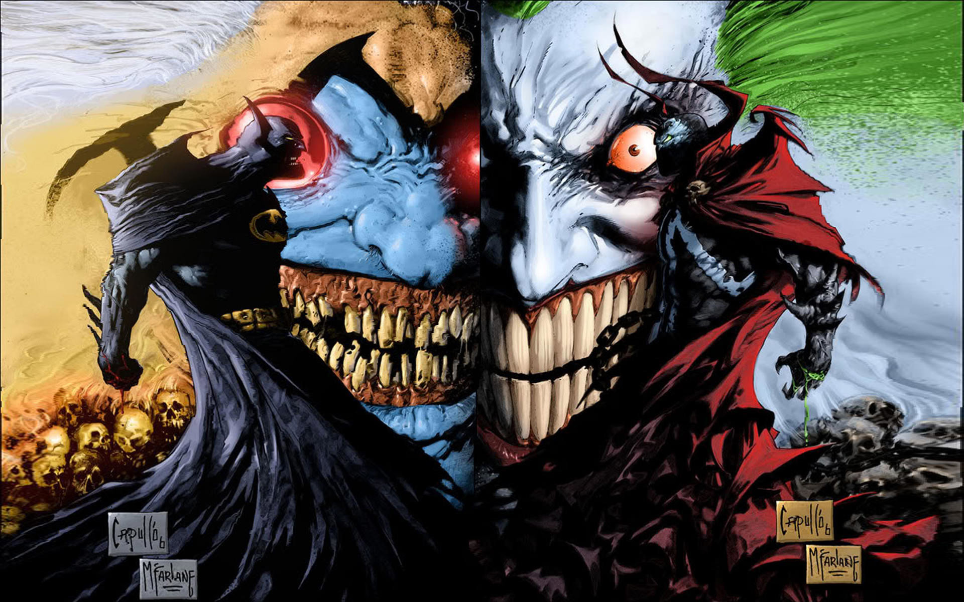 Res: 1920x1200, Spawn and Batman Scary Wallpaper Background