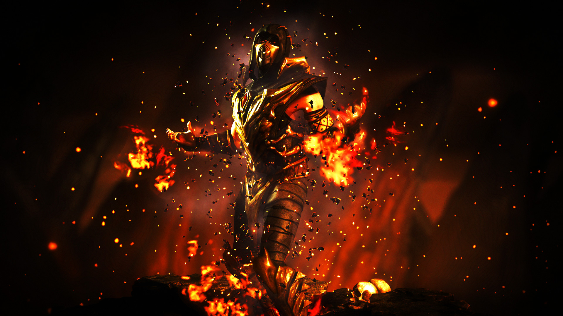 Res: 1920x1080, ... Mortal Kombat X - Scorpion (Injustice Outfit) by CyRaX-494