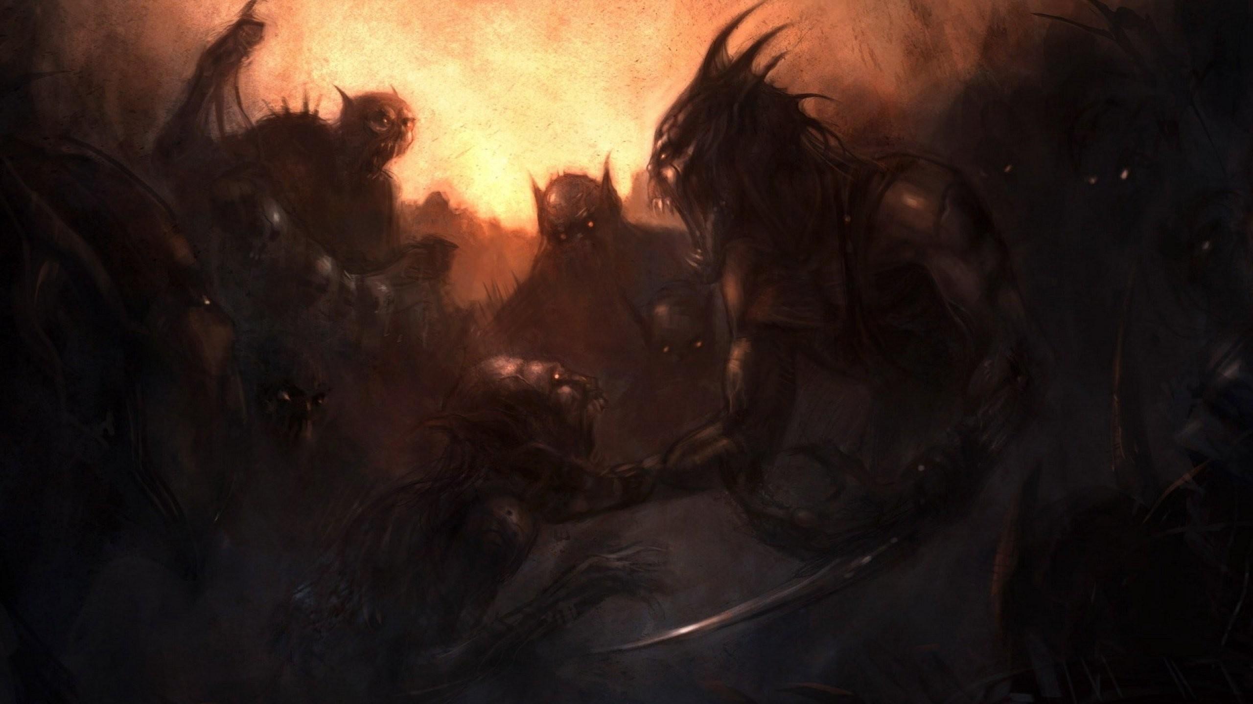 Res: 2560x1440, cartoon batman fantasy spawn movie artwork evil demons