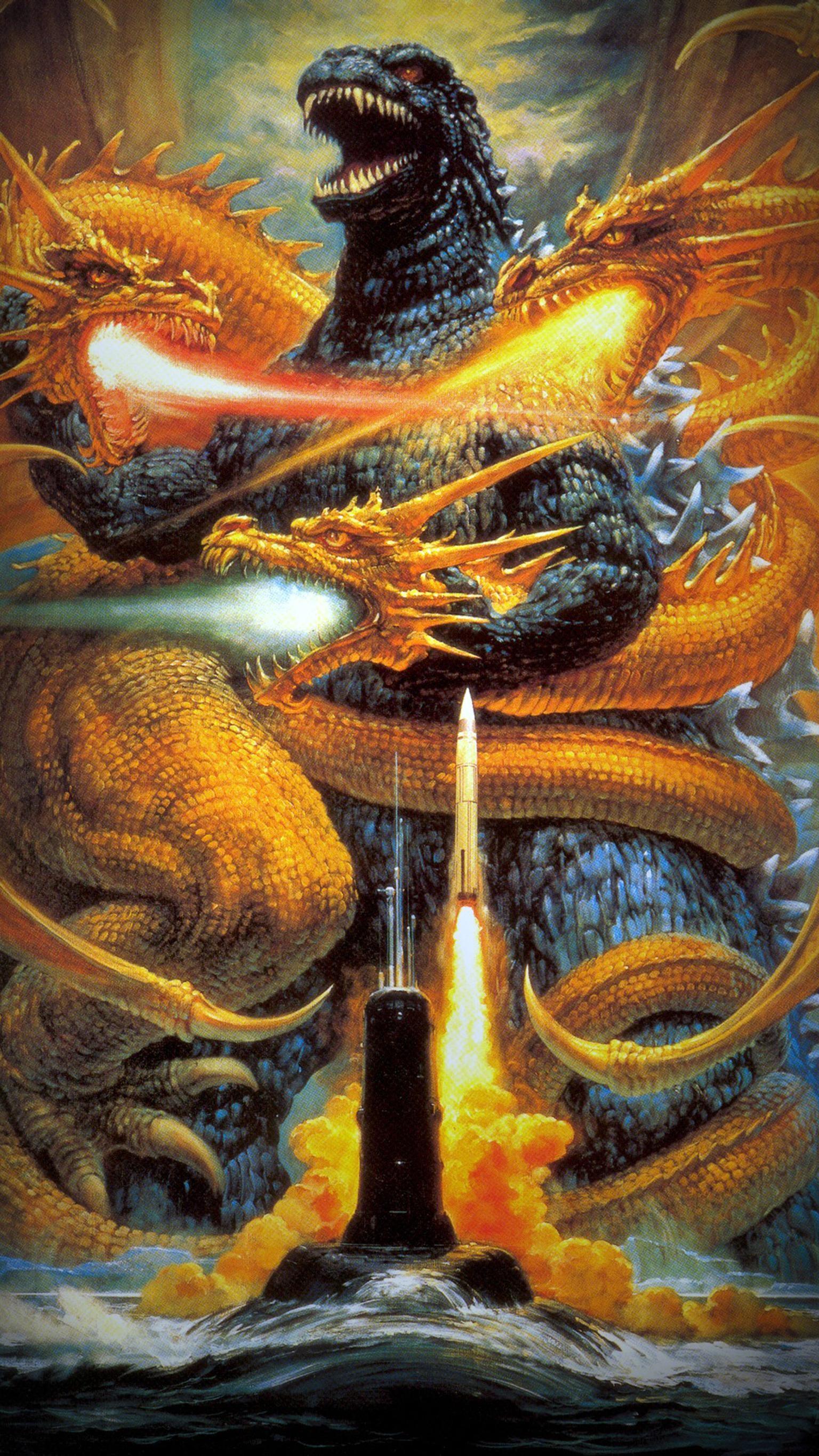 "Res: 1536x2732, Wallpaper for ""Godzilla vs."