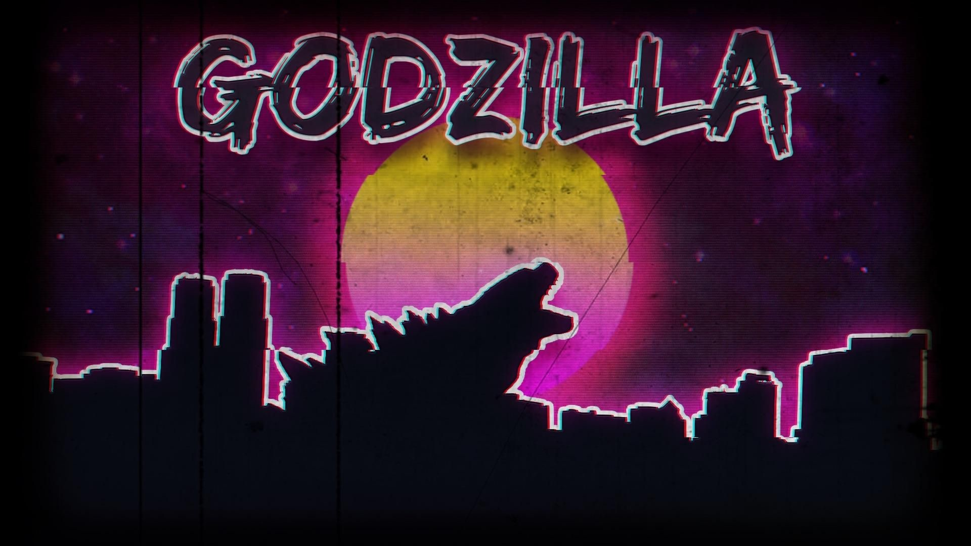 Res: 1920x1080, A retro 80s style godzilla wallpaper I threw together in photoshop.  []