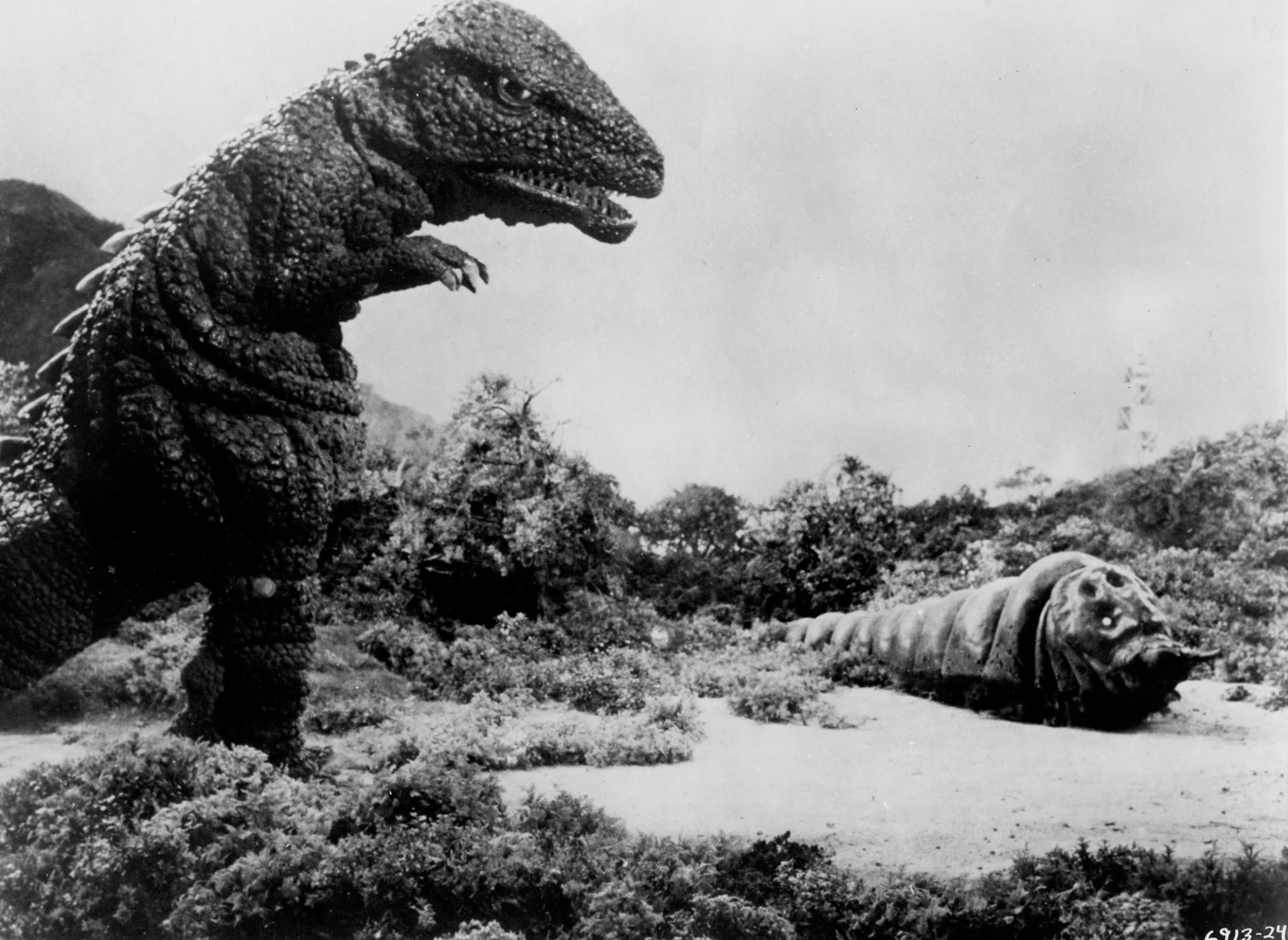 Res: 2048x1495, Gorosaurus and Mothra from DESTROY ALL MONSTERS (1968)