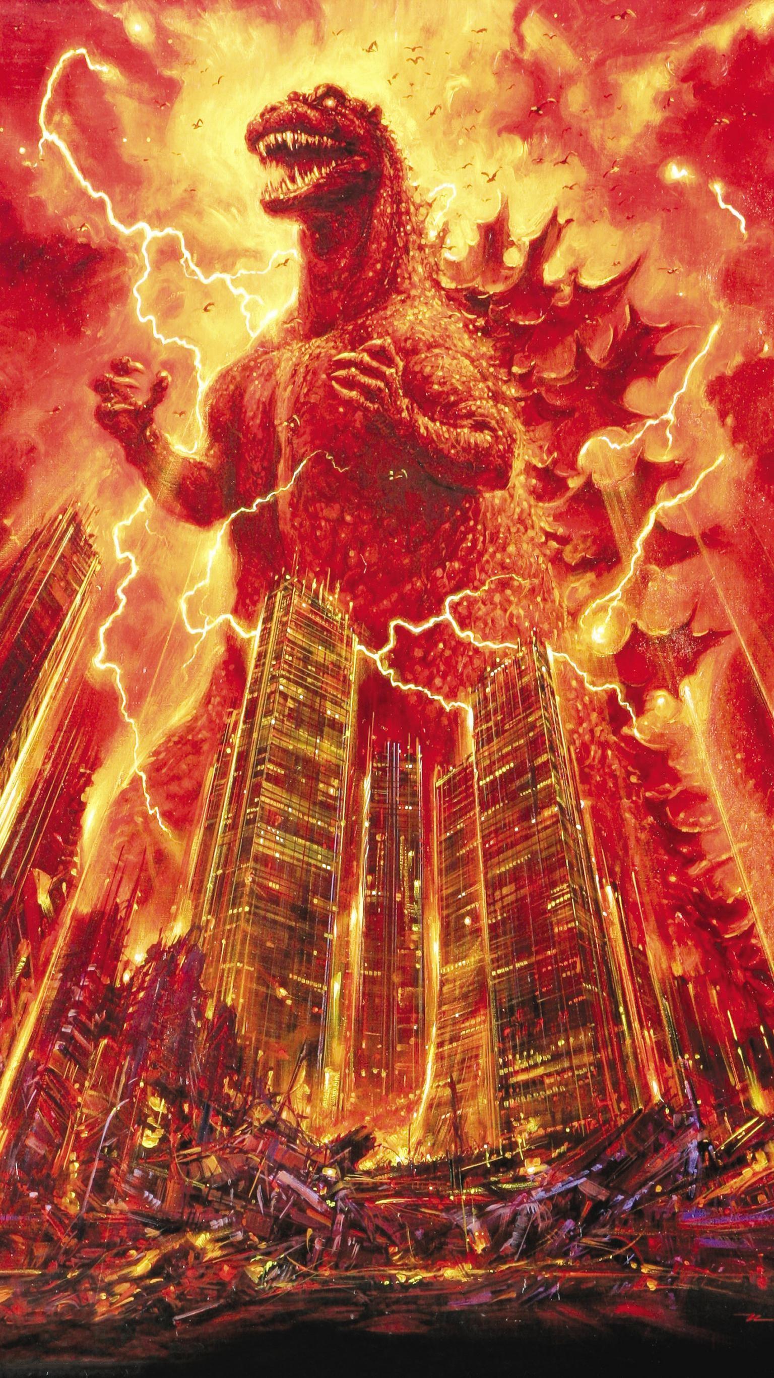 "Res: 1536x2732, Wallpaper for ""Godzilla 1985"" ..."