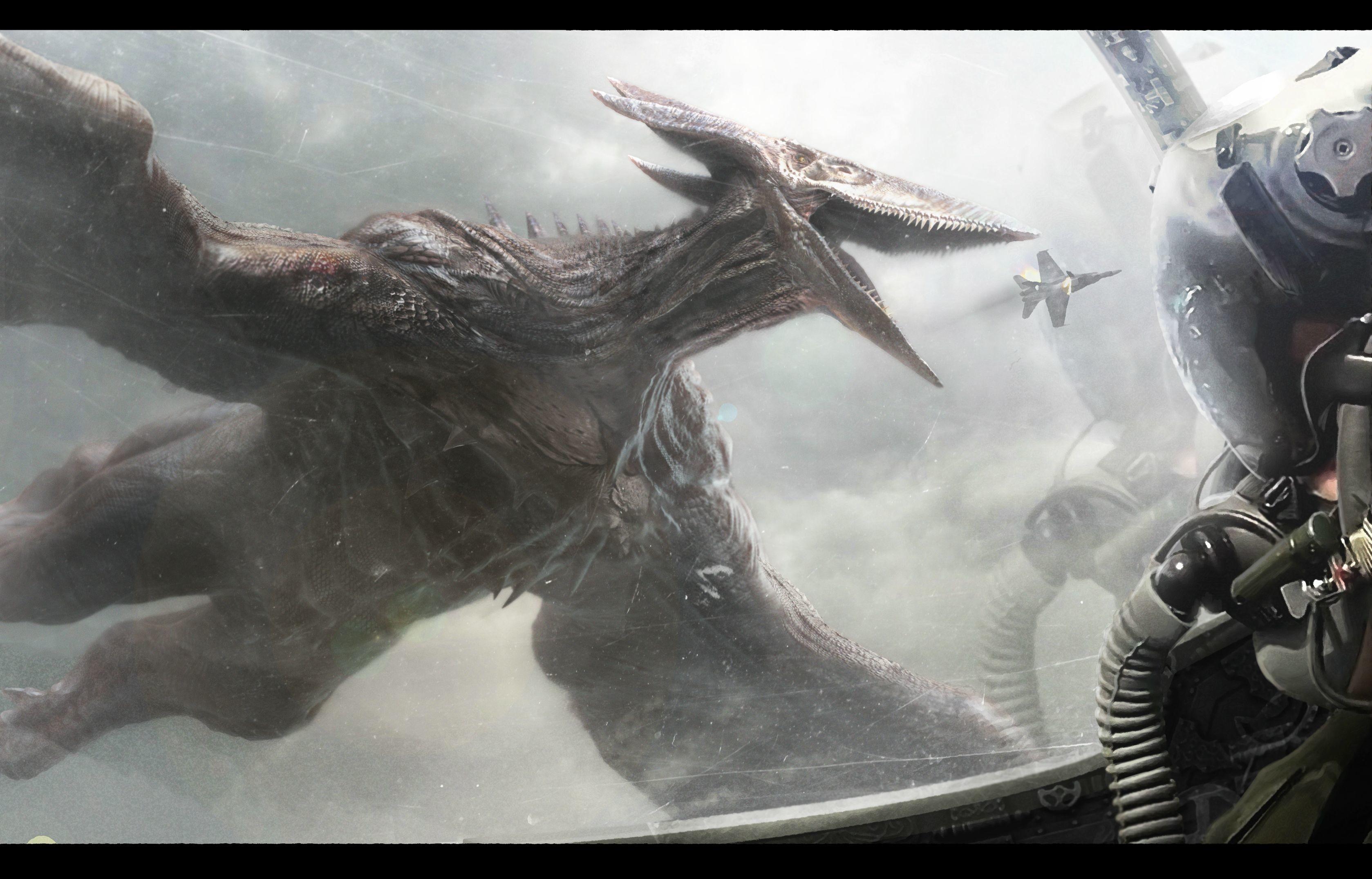 Res: 3357x2151, Mothra Godzilla 2014