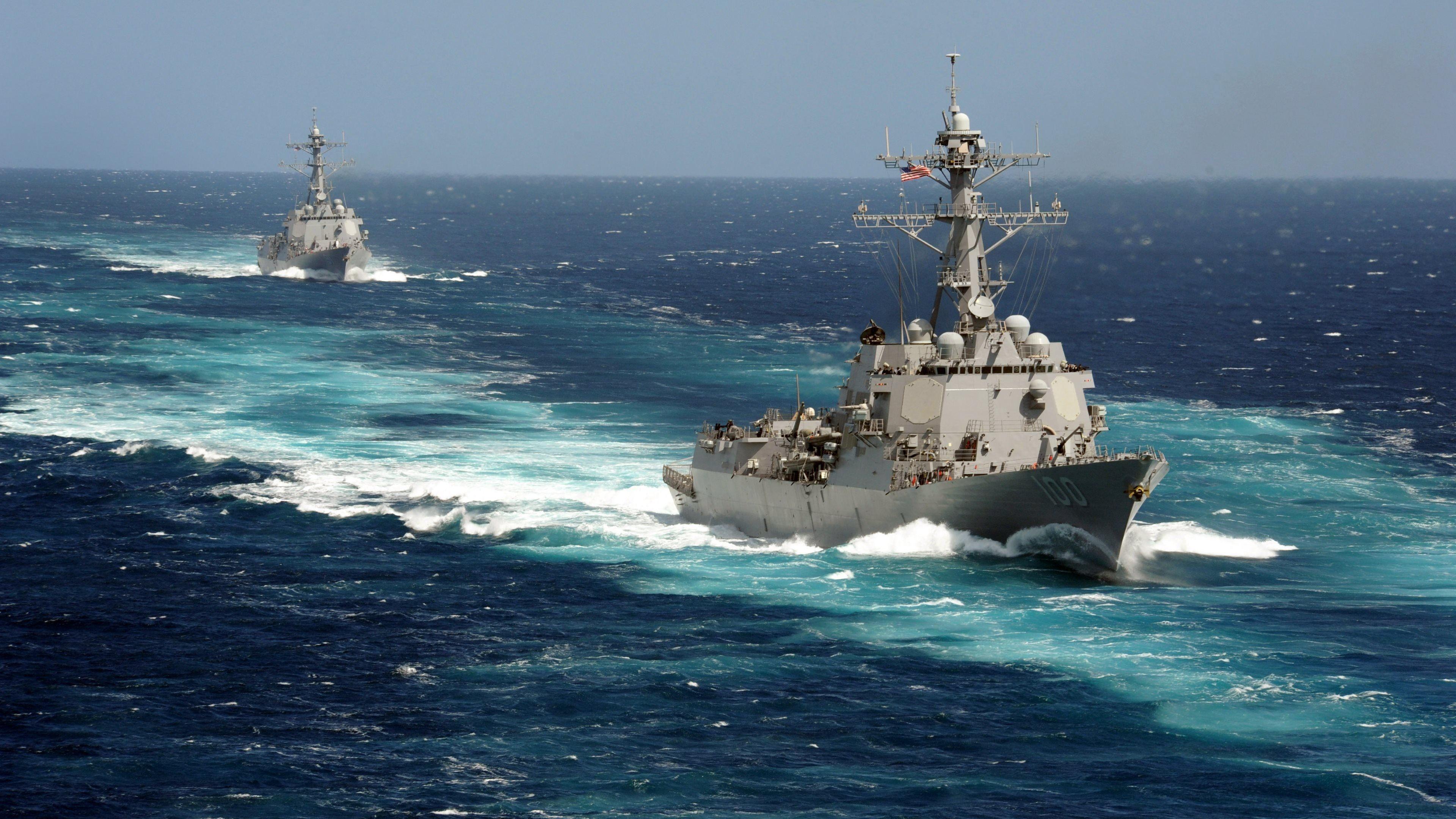 Res: 3840x2160, Navy Ships Ultra HD Wallpaper For Desktop Of