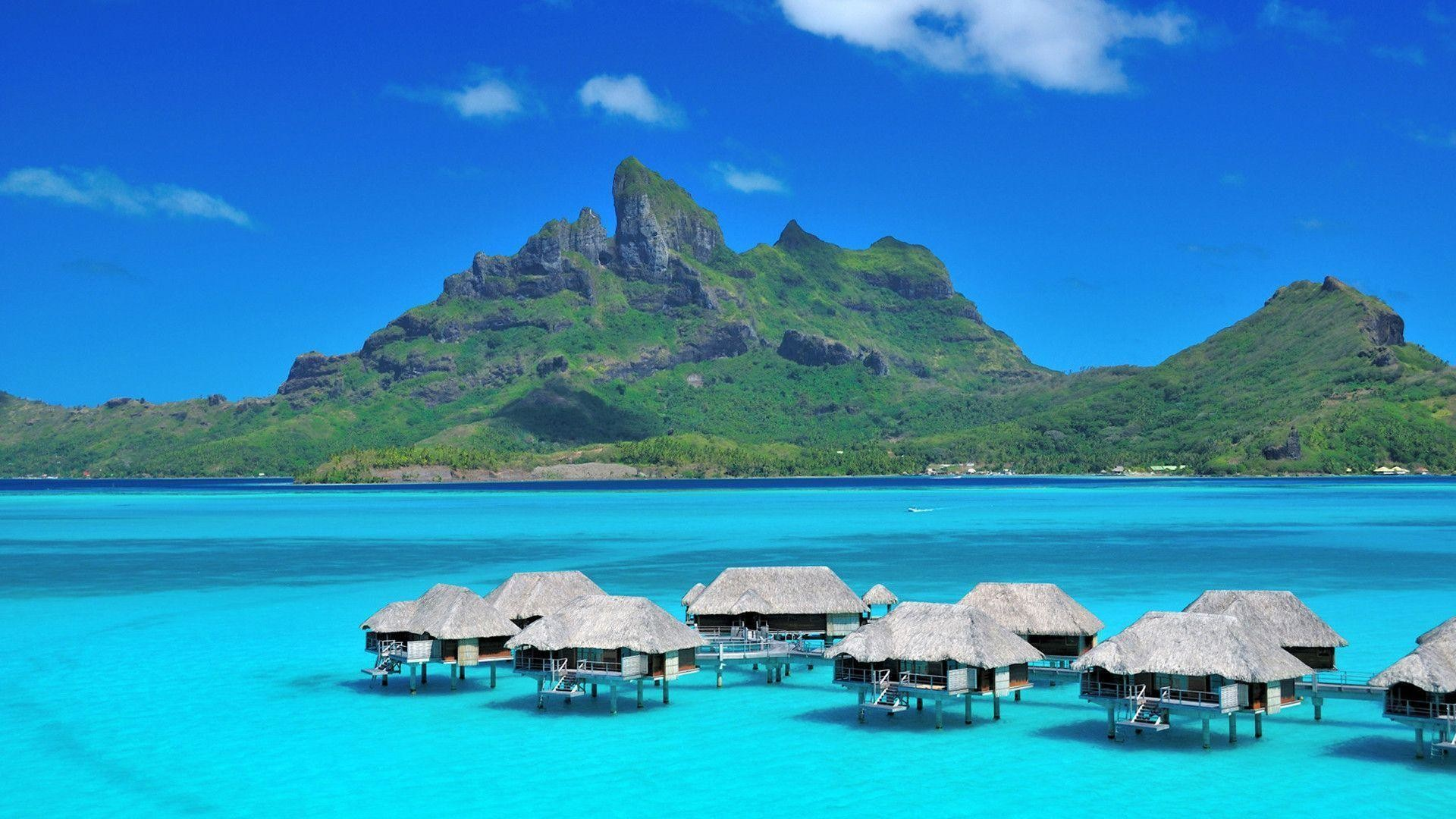 Res: 1920x1080, Bora-Bora Beach New Background in HD - Beaches & Islands Wallpapers