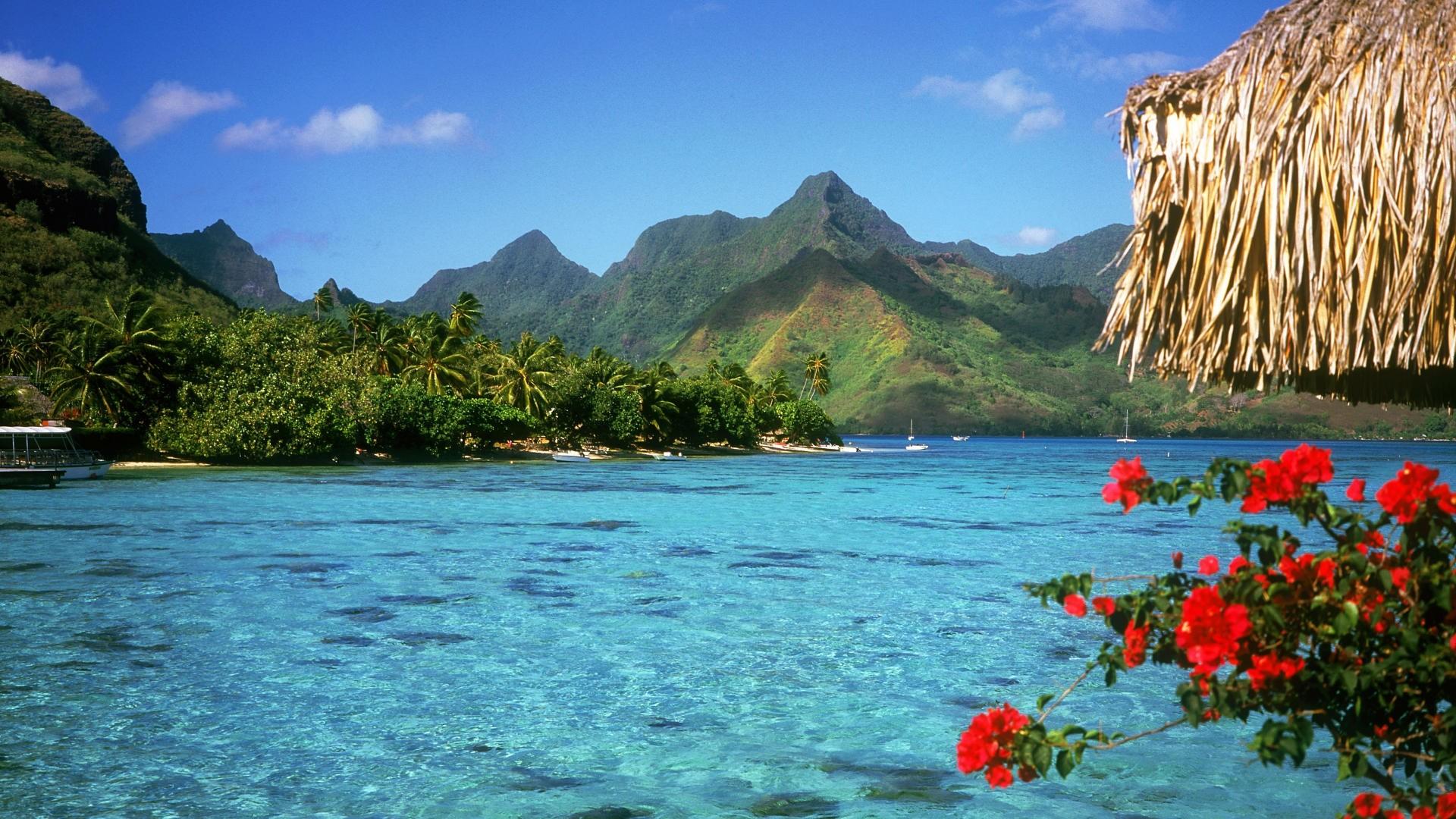 Res: 1920x1080, Bora Bora Best Beach Wallpaper