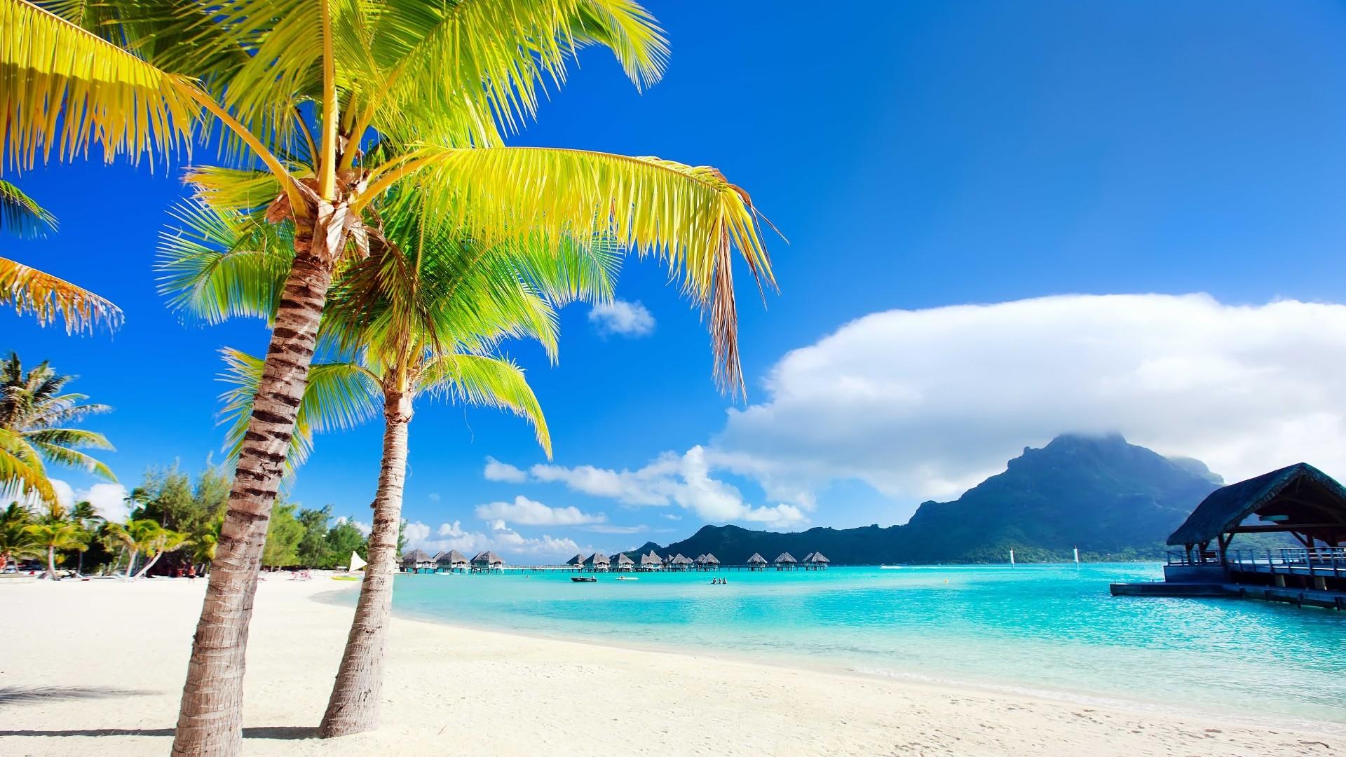 Res: 1920x1080, Bora Bora Beach