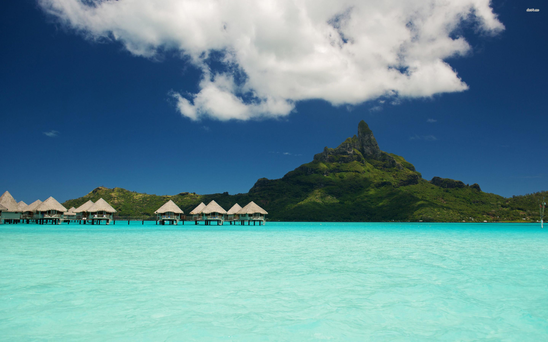 Res: 2880x1800, ... Le Meridien Bora Bora wallpaper  ...