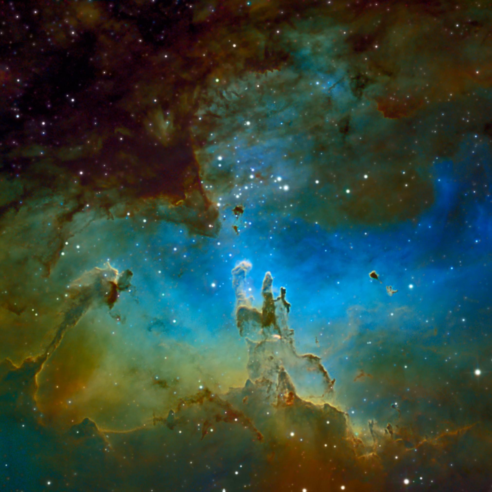 Res: 2024x2024, Eagle Nebula Widescreen HD Wallpaper