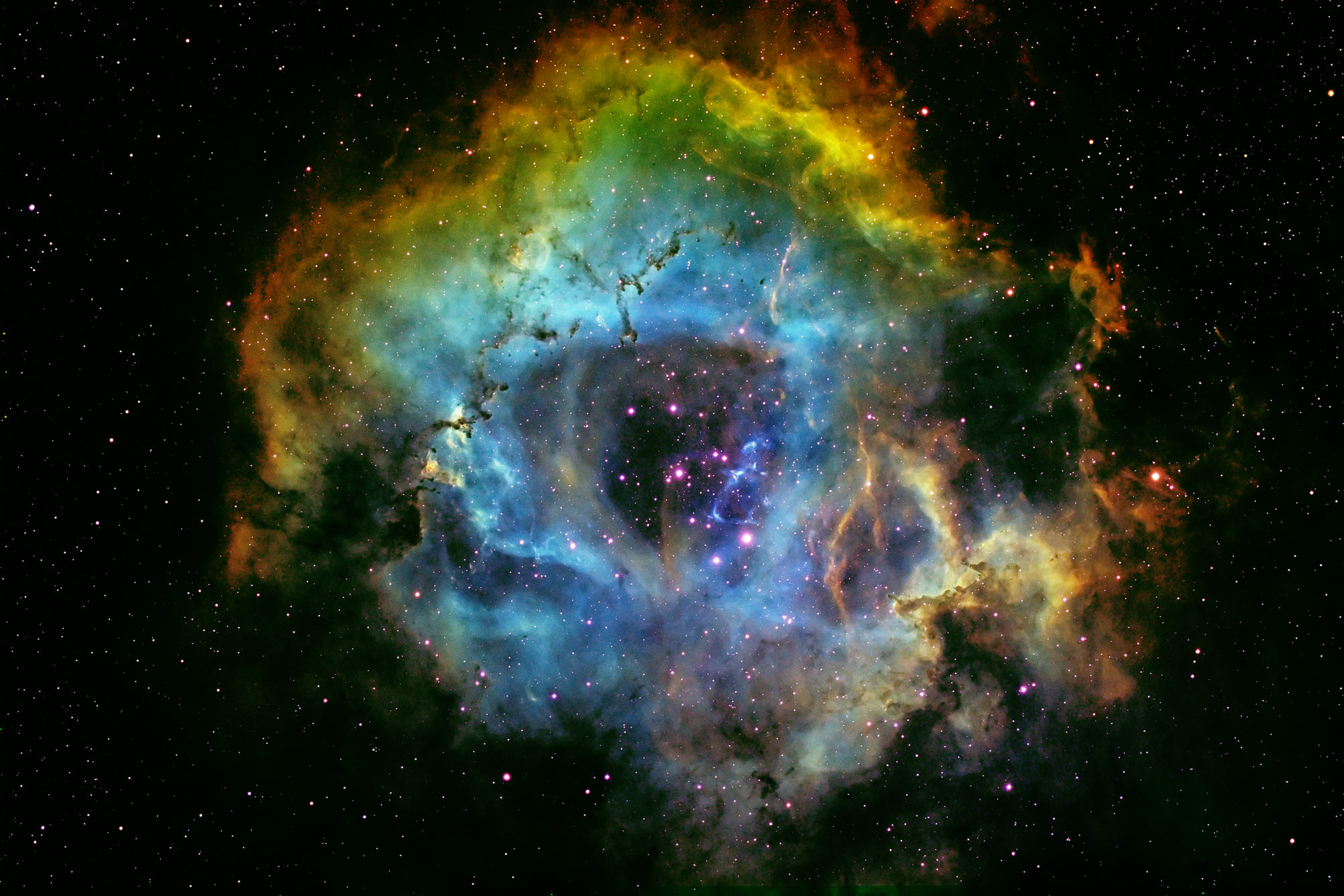 Res: 2004x1336, Rosette Nebula Wallpaper For Iphone On HD Wallpaper