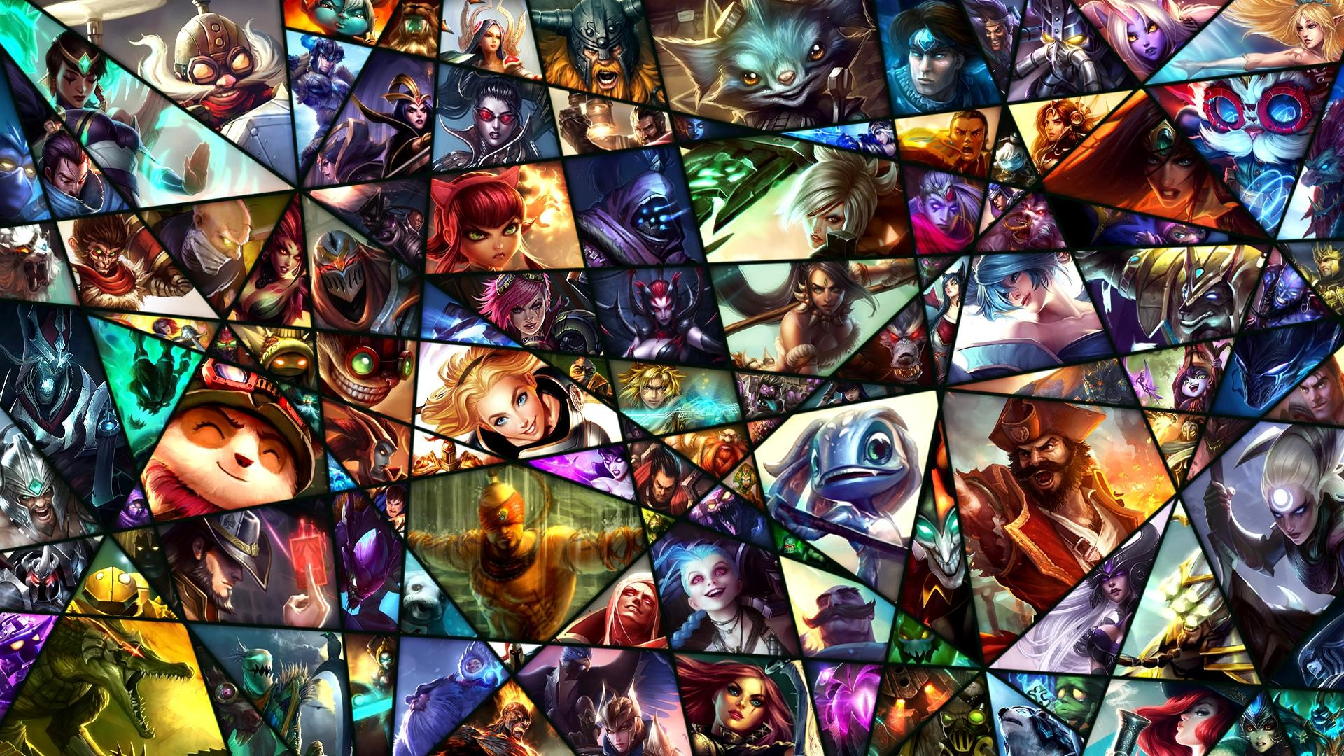 Res: 1920x1080, League of Legends Wallpaper featuring the 119 currently released champions!