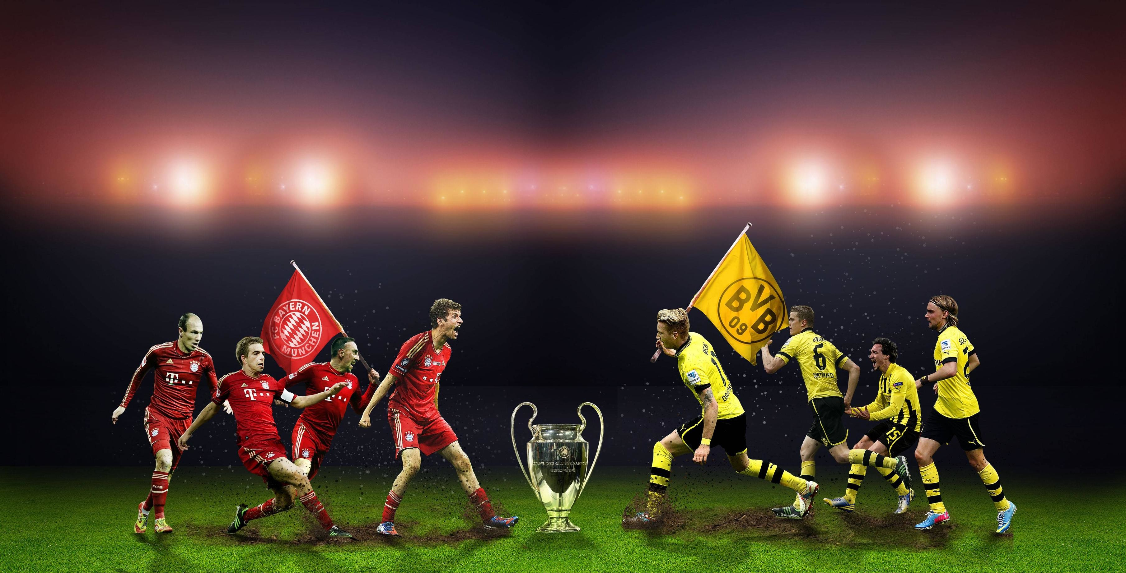 Res: 3619x1843, Champions League wallpaper I made ...