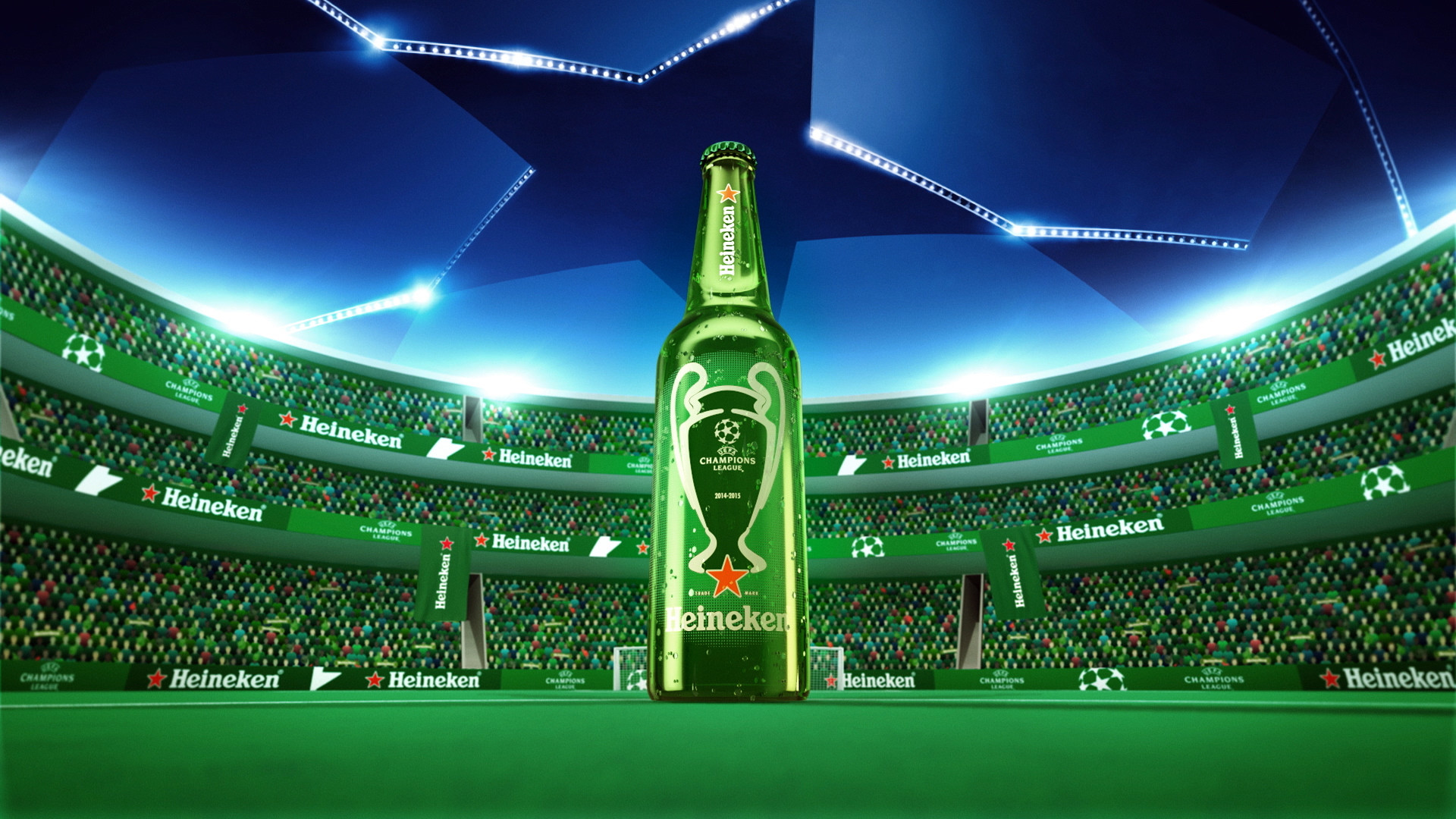 Res: 1920x1080, ... Marketing through sports - Heineken beer - is being promote to people  that can drink beer Full HD Pictures UEFA Champions League ...