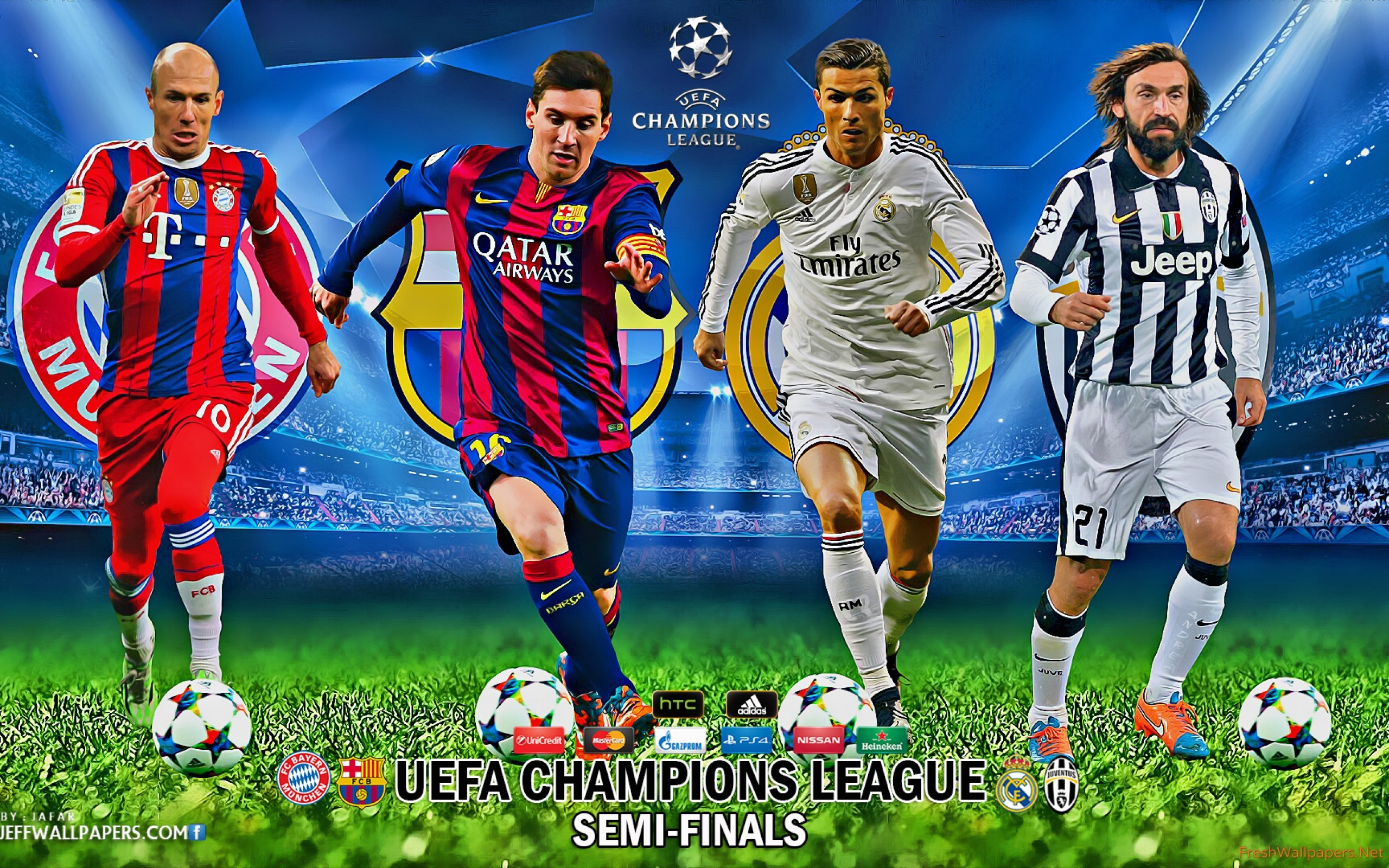 Res: 2560x1600, uefa-champions-league-semi-finals-2015 Wallpaper: