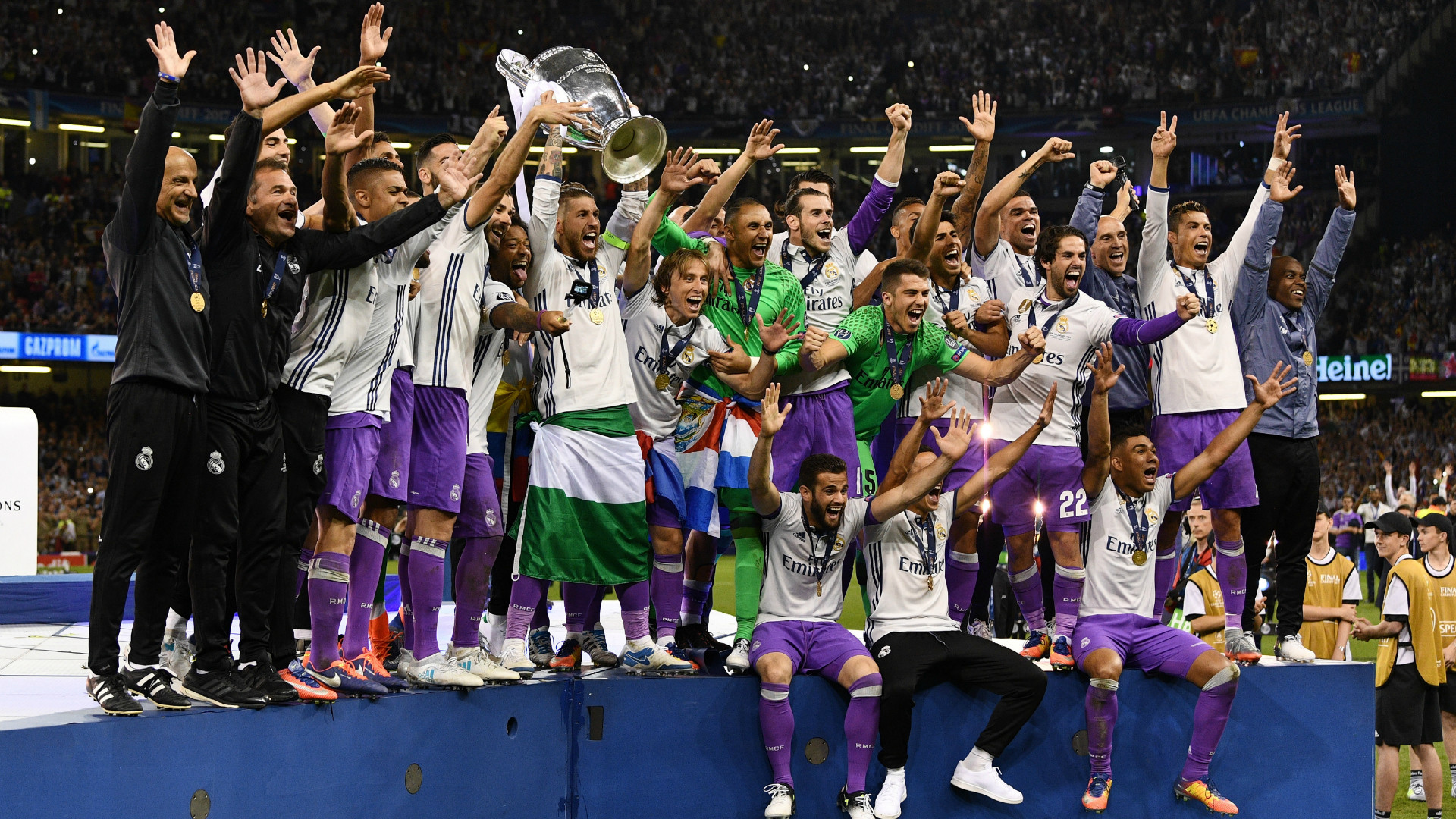Res: 1920x1080, Real Madrid players celebrating Champions League win 03062017