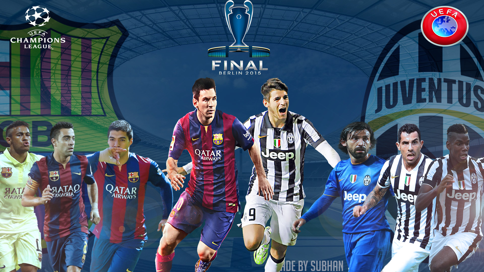 Res: 1920x1080, ... Champions league final 2015 berlin 1080p Wallpaper by subhan22