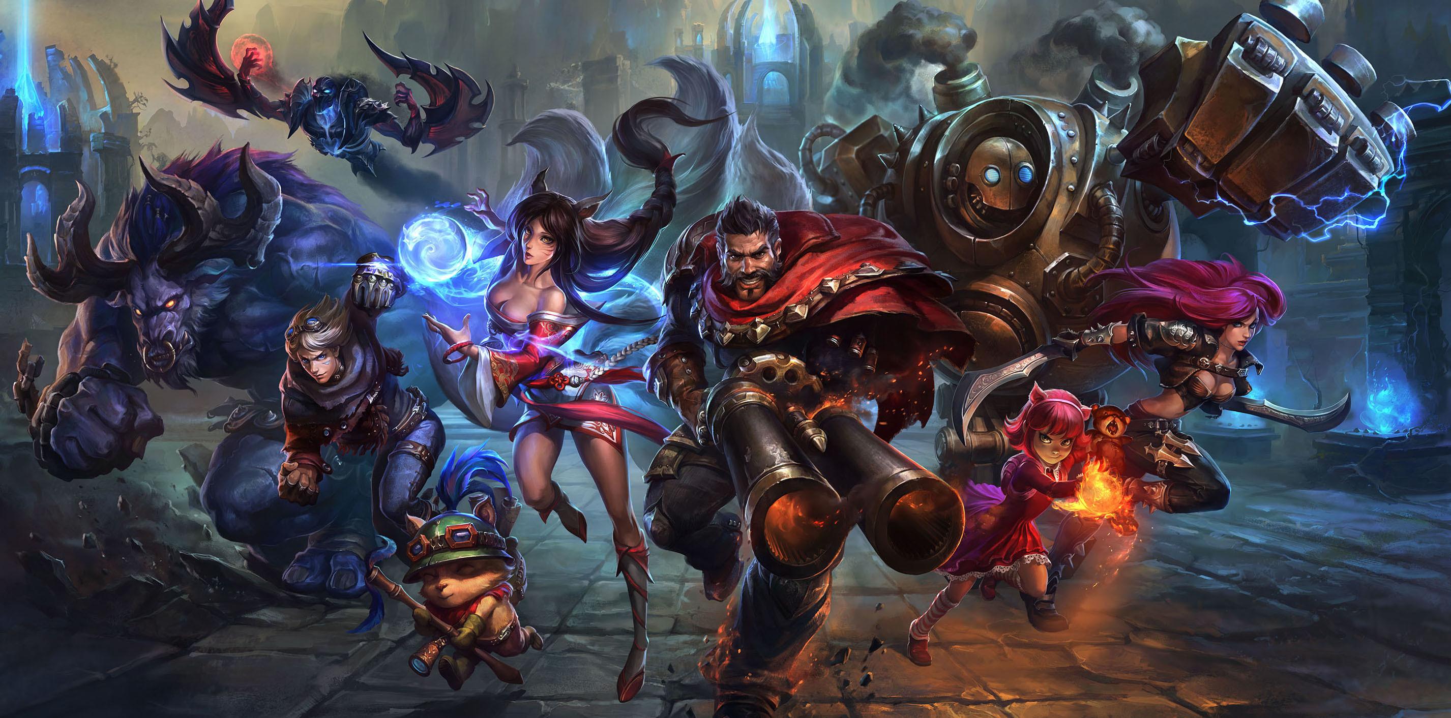 Res: 2853x1412, League of Legends Champions wallpaper