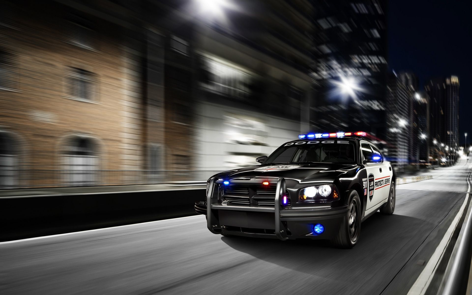 Res: 1920x1200, Dodge Charger Police Car Wallpaper